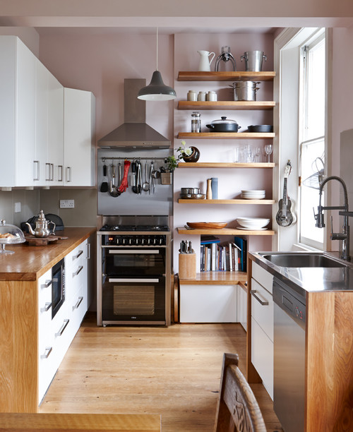 Add more shelves in kitchen