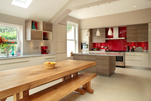 The Burgandy red Kitchen Decor Ideas