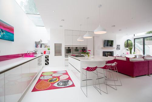 Pink color Kitchen Decor Ideas