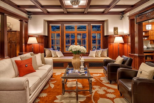 Living Room Coffered Ceiling Designs