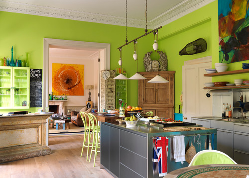 Bright Colored Kitchens