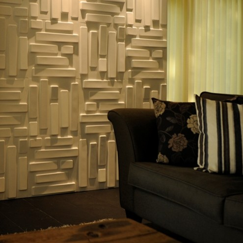 dimensional wall paper