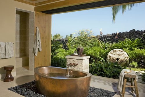 Outdoor bathrooms