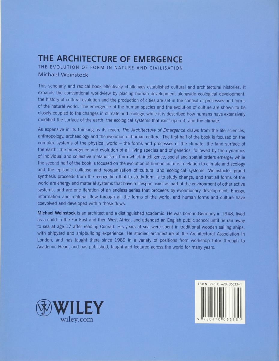 Architecture Of Emergence by Michael Weinstock- Book Review