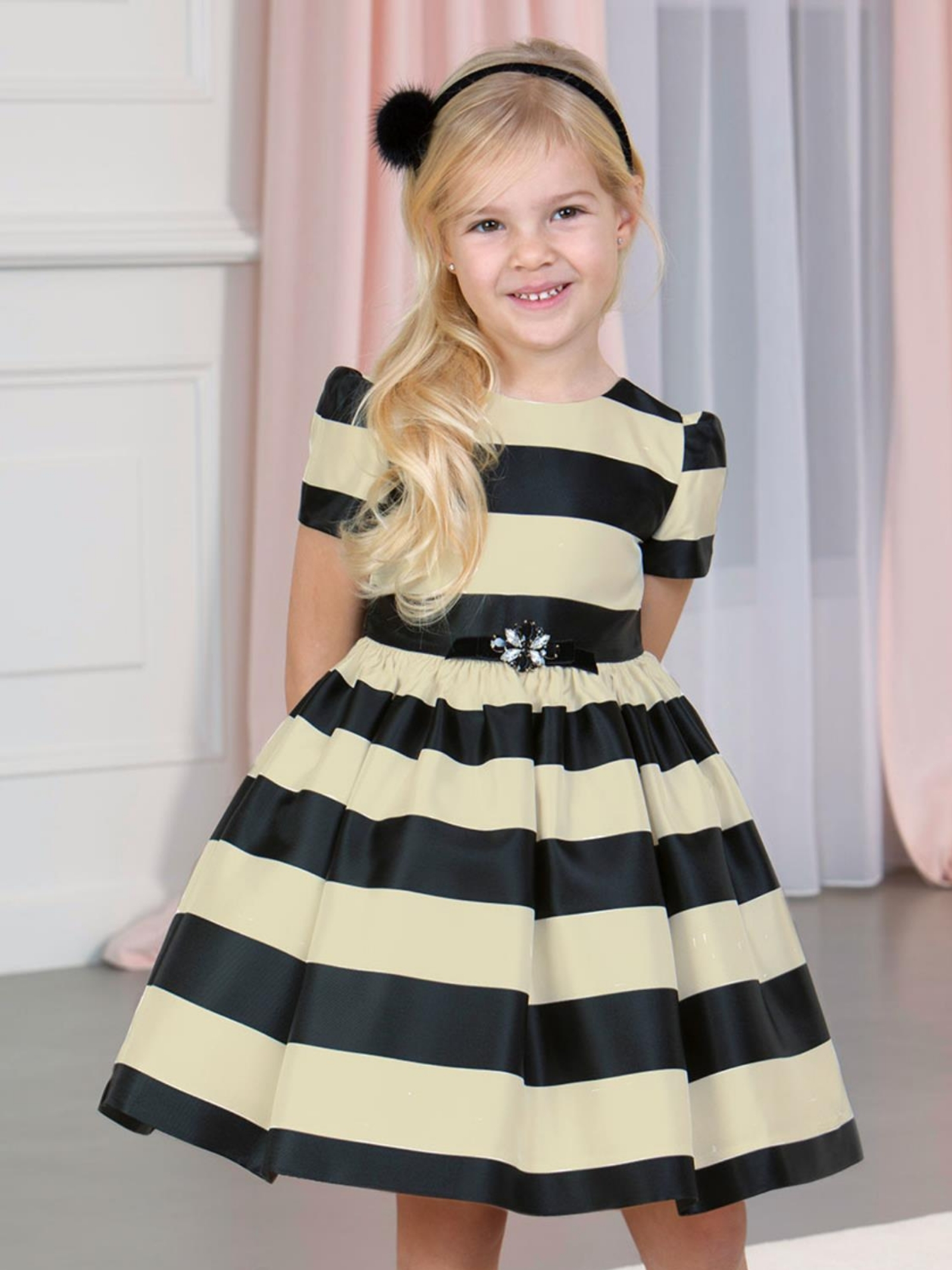 Striped Dress for Girls ABEL&LULA | Clothes | 55105
