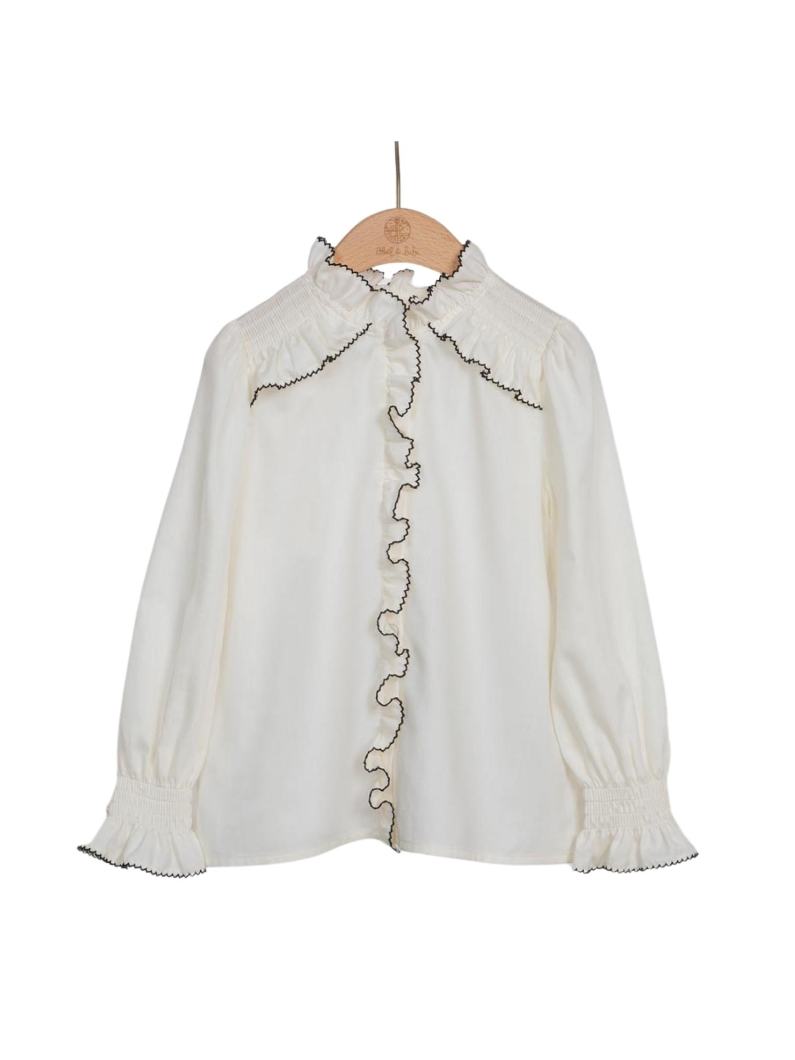 Elegant Rouche Blouse ABEL&LULA | Bluse | 5623003