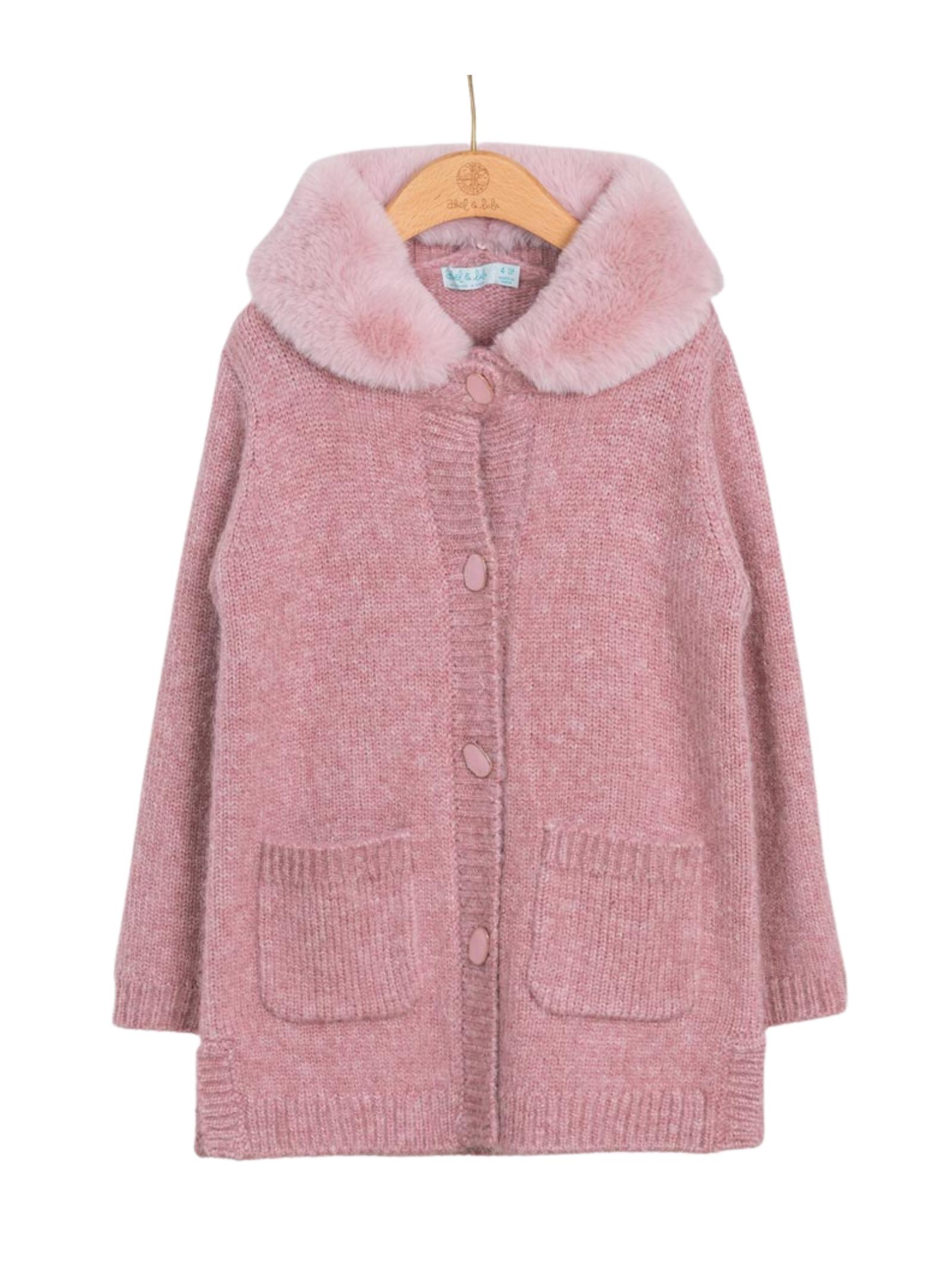 Faux Fur Collar Cardigan ABEL&LULA | Cardigan | 5842080