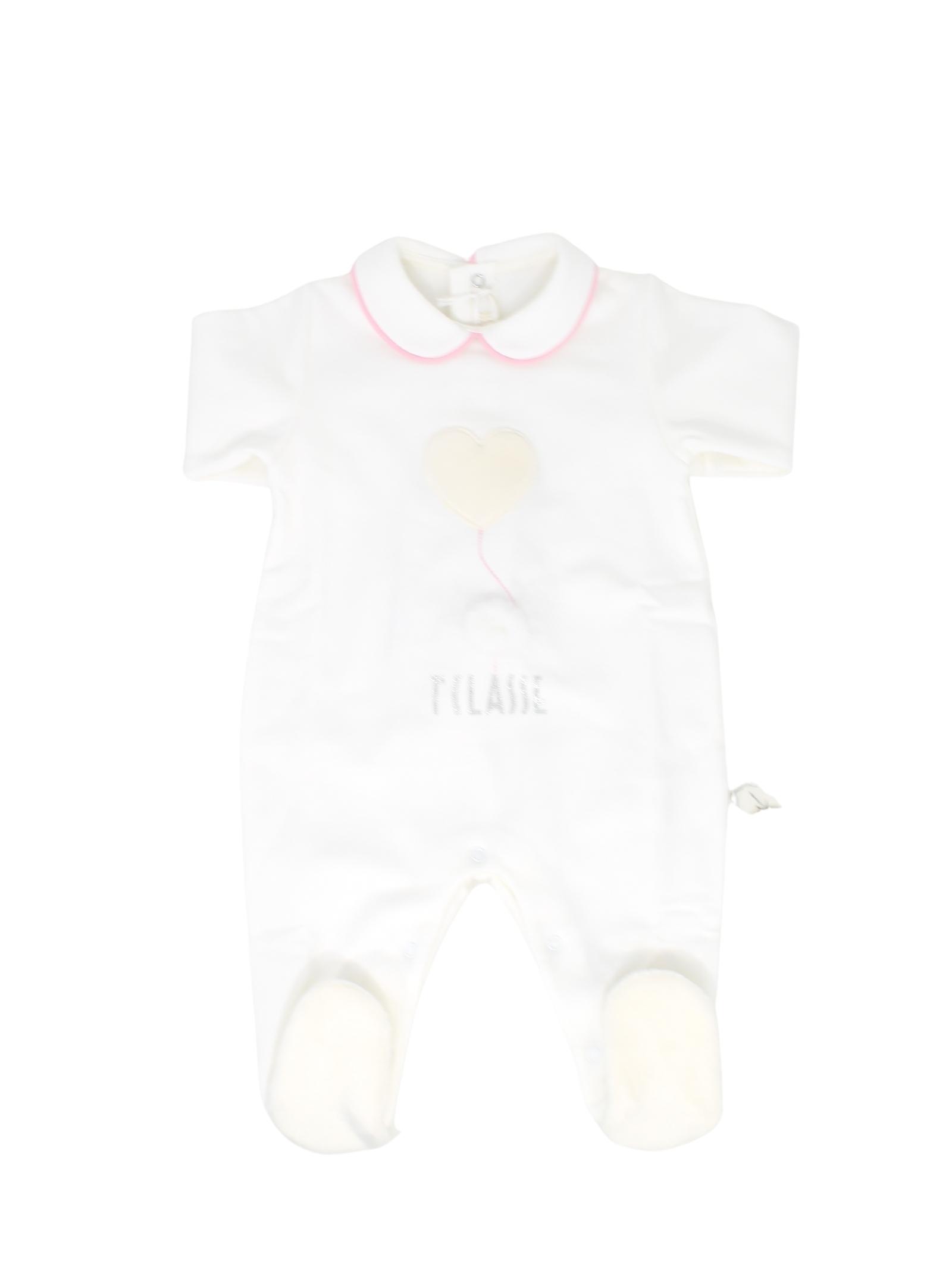 Baby Girl Whole Heart Romper ALVIERO MARTINI 1° CLASSE JUNIOR | Rompers | 25R1049BEIGE