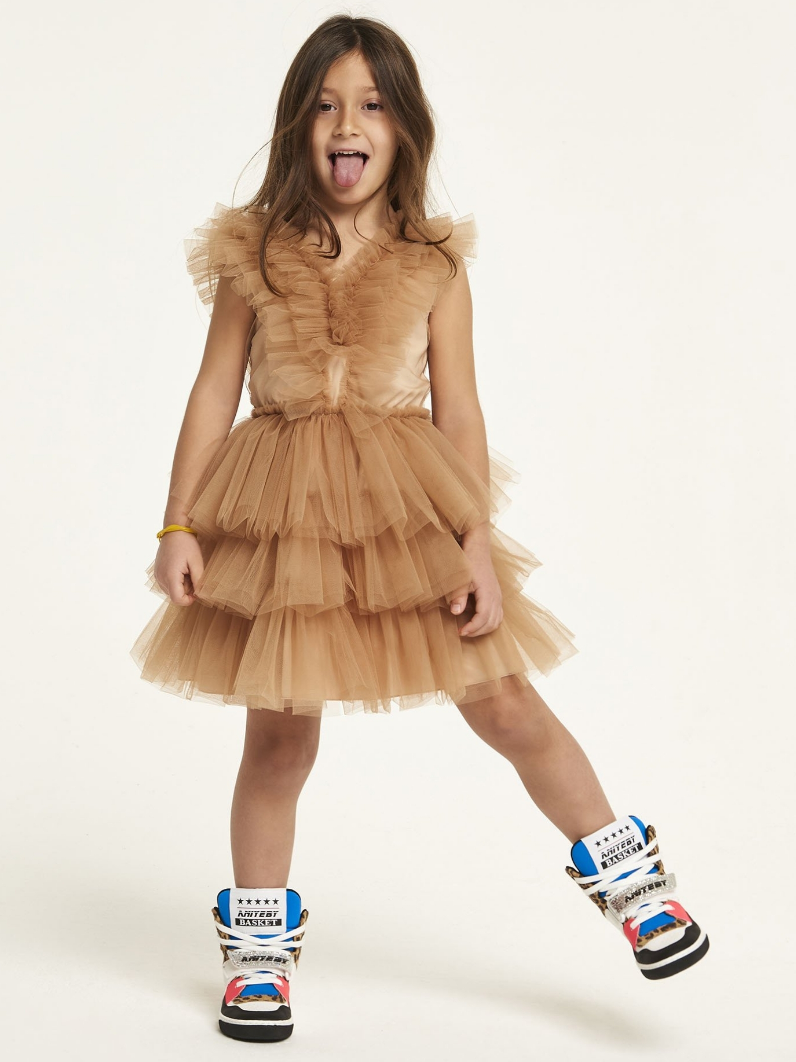 Girl's Tulle Dress with Rouche ANIYE BY GIRL | Clothes | 11122500459