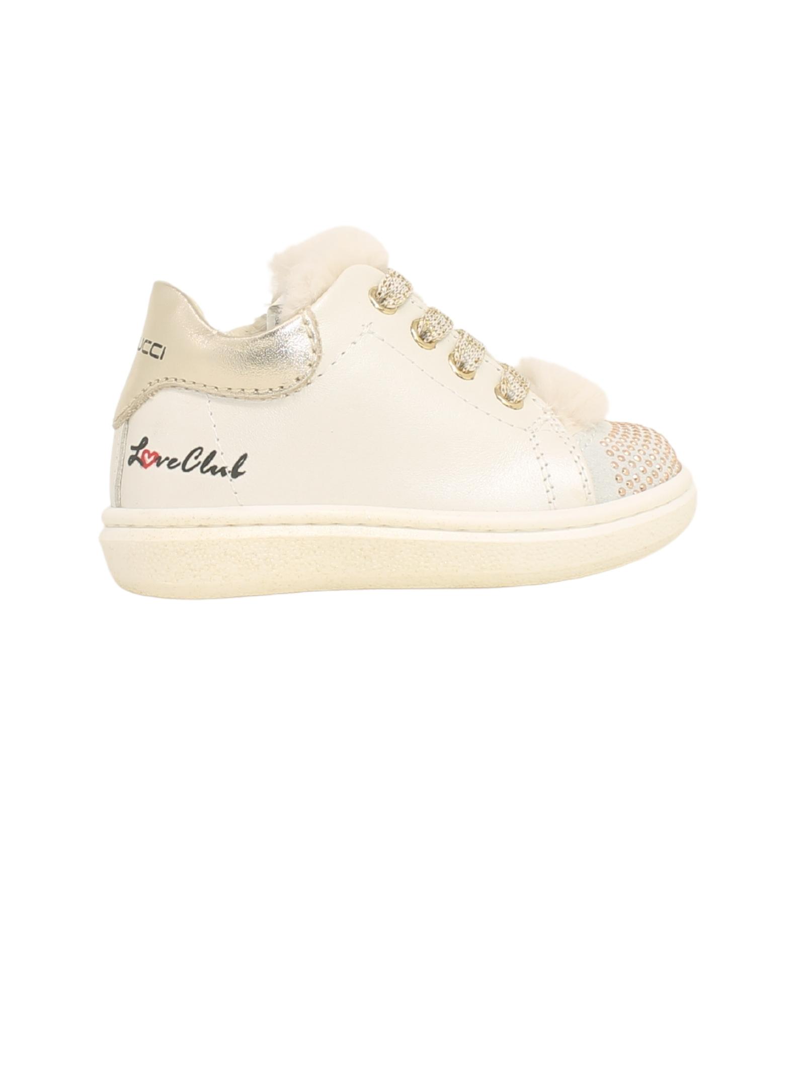 Girl's Eco-fur Sneakers BALDUCCI | Sneakers | MSPO3827AVORIO