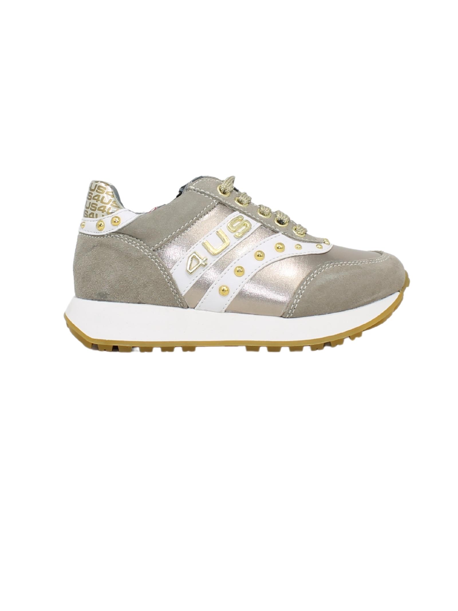 Sneakers Borchie Bambina CESARE PACIOTTI | Sneakers | 4U011BEIGE