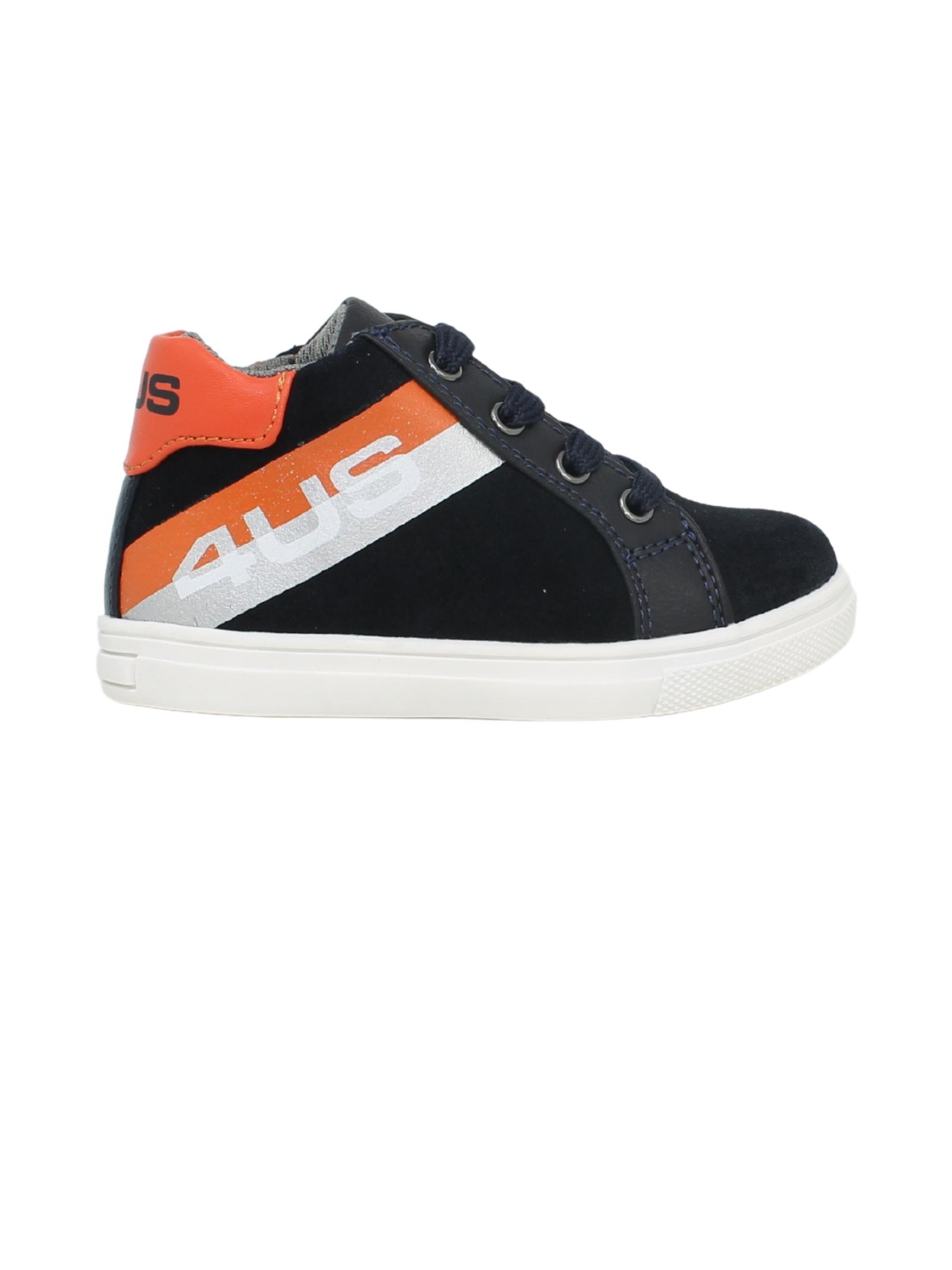 Blue and Orange Baby Sneakers CESARE PACIOTTI | Sneakers | 4U141BLU