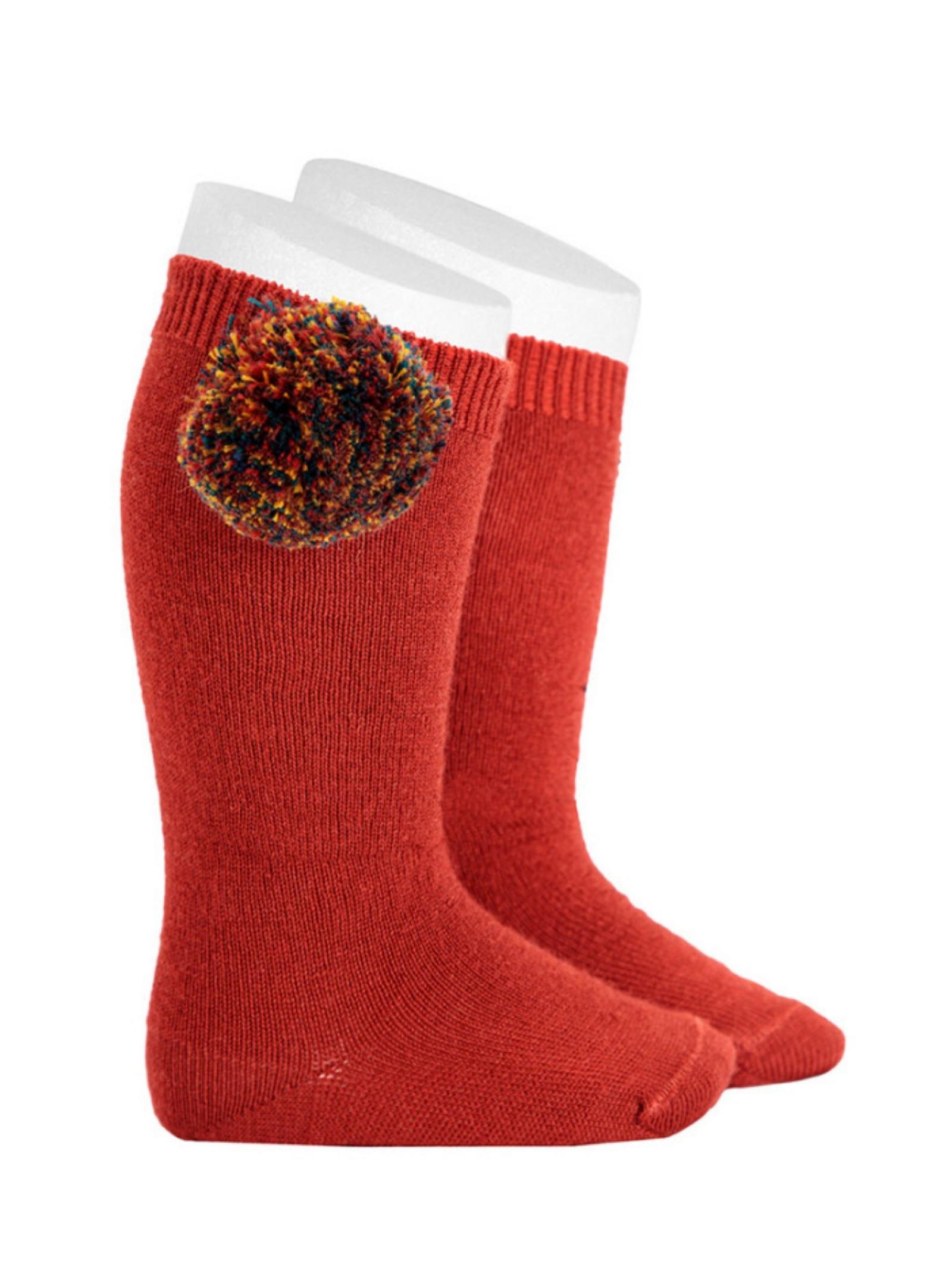Vintage Baby Pompon Socks CONDOR | Socks | 14192952
