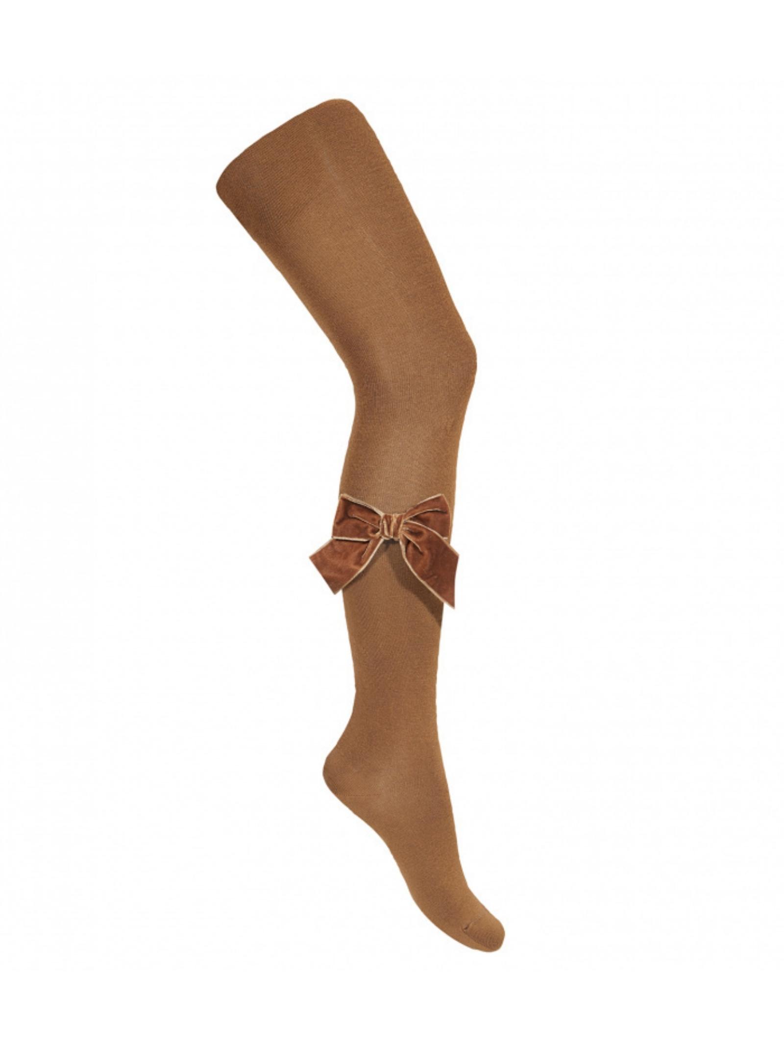 Velvet Bow Tights for Girls CONDOR |  | 24891807