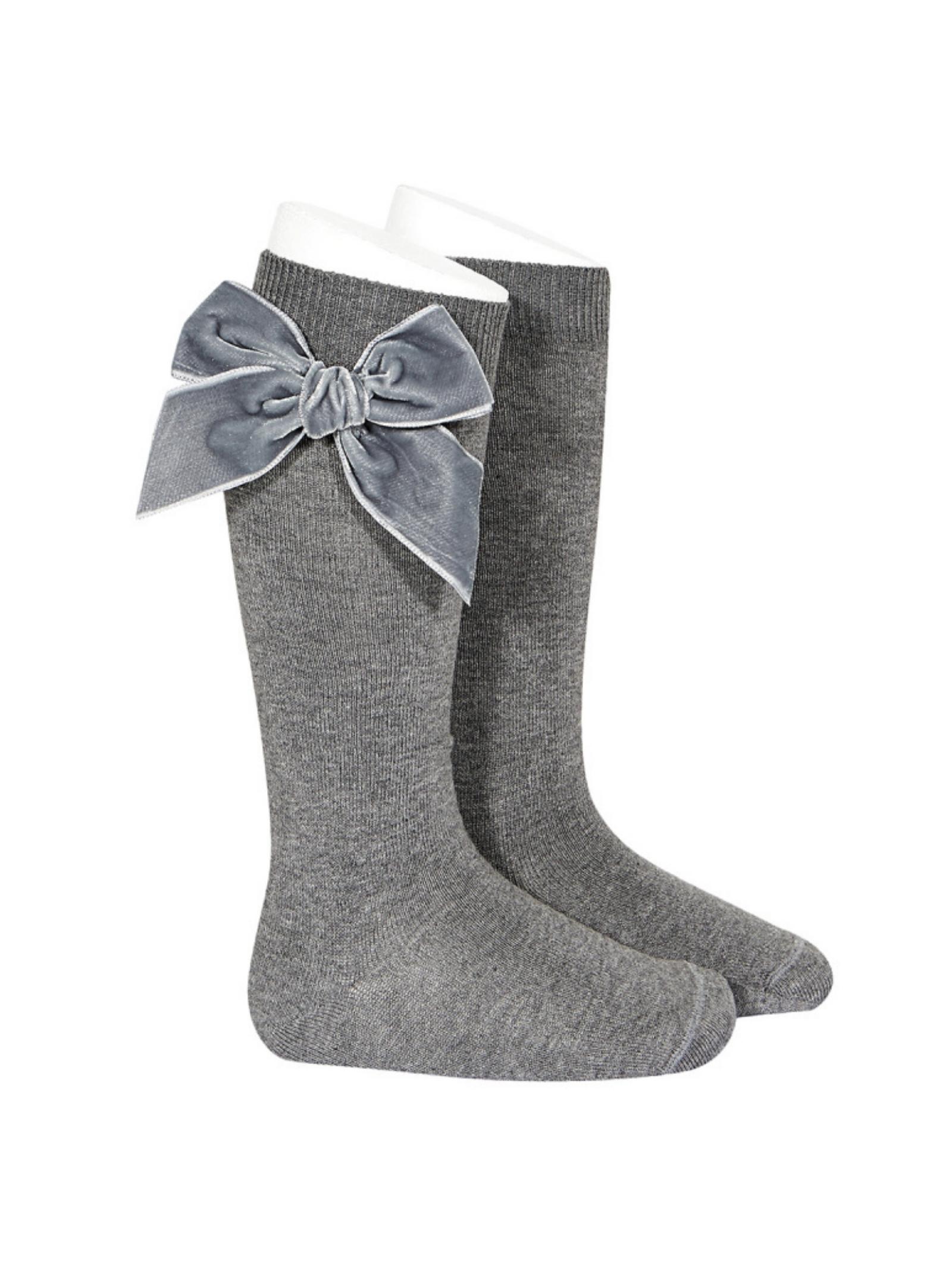 Parisian Bow Socks for Girls CONDOR | Socks | 24892230