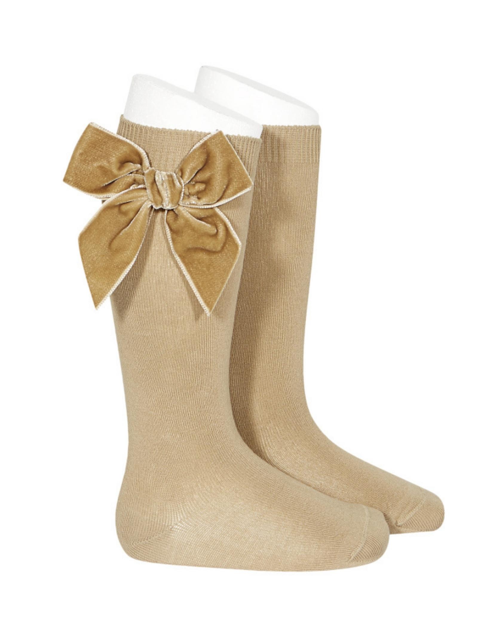 Parisian Bow Socks for Girls CONDOR | Socks | 24892331