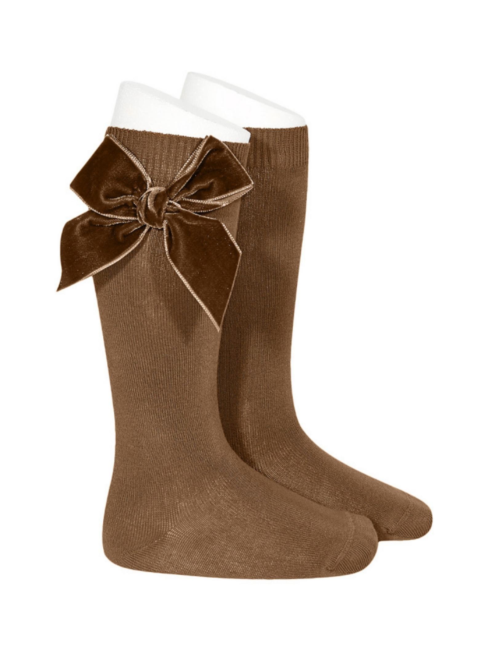 Parisian Bow Socks for Girls CONDOR | Socks | 24892897