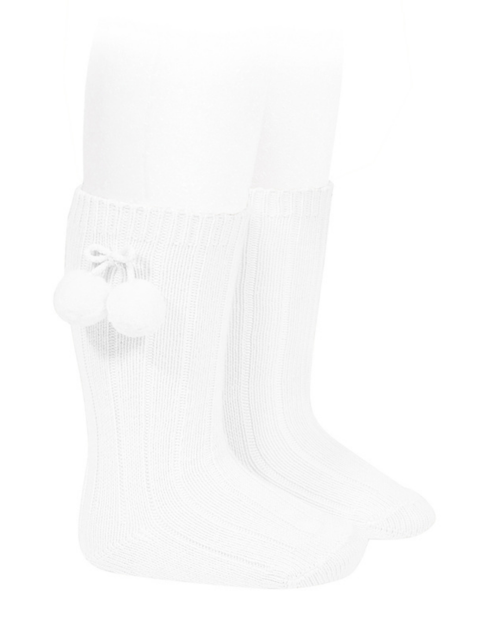 Ribbed Pompon Socks for Girls CONDOR | Socks | 30152200