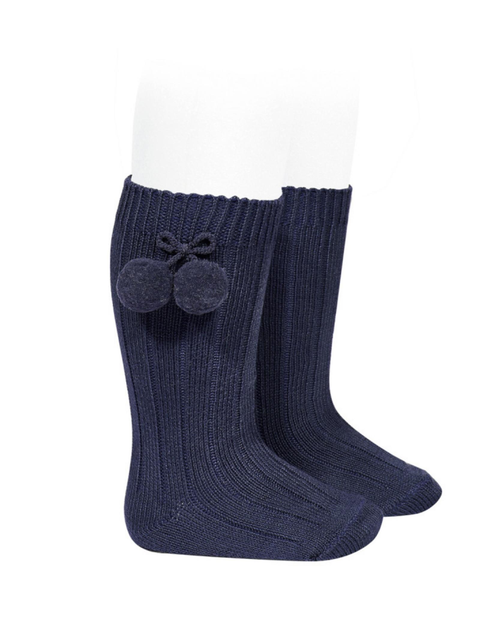 Ribbed Pompon Socks for Girls CONDOR | Socks | 30152480
