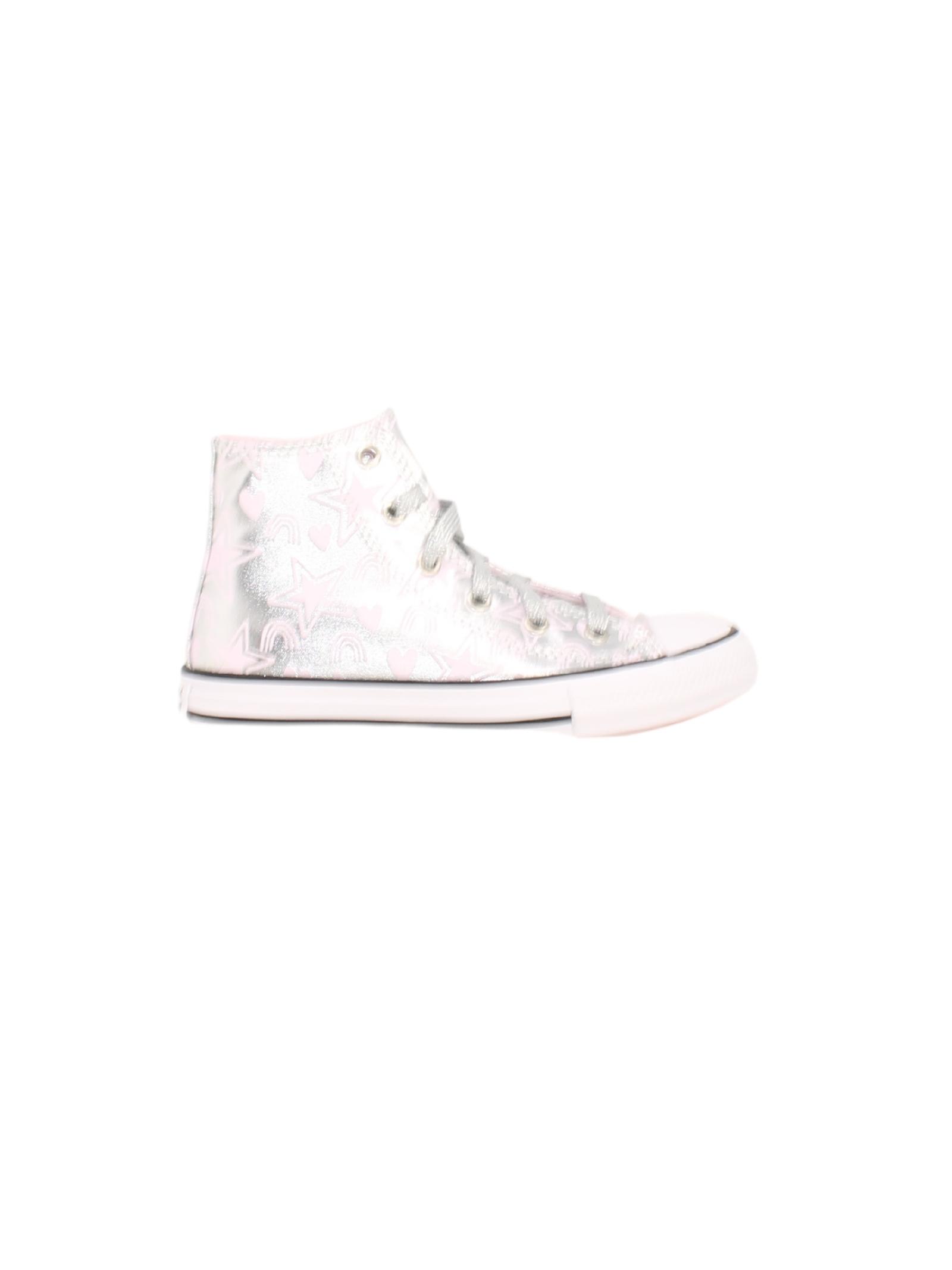 Sneakers Silver Pink Stars Girls CONVERSE KIDS | Sneakers | 672475CSILVER PINK