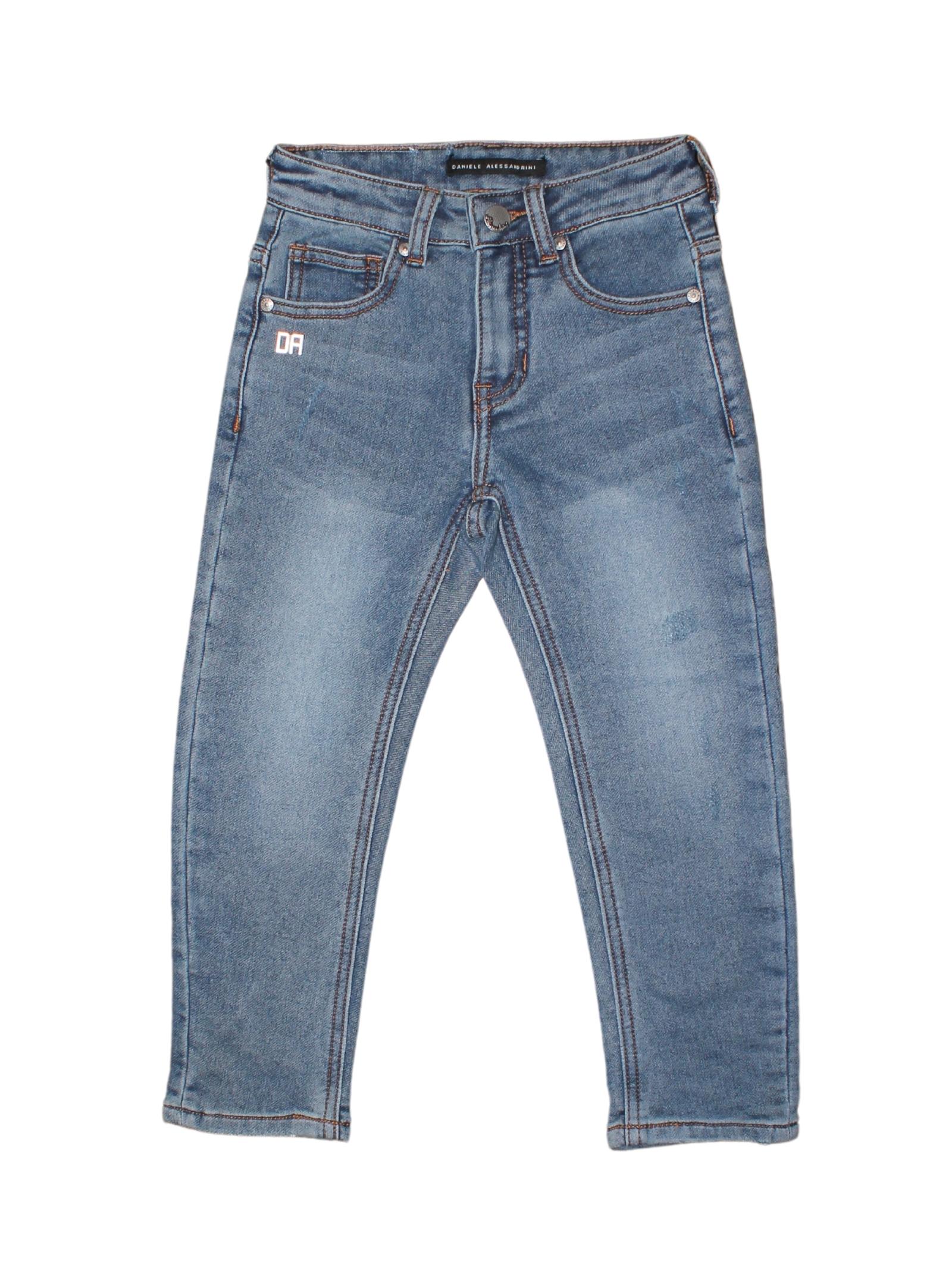 Baby Blue Jeans DANIELE ALESSANDRINI JUNIOR | Trousers | 1231D1054BLU