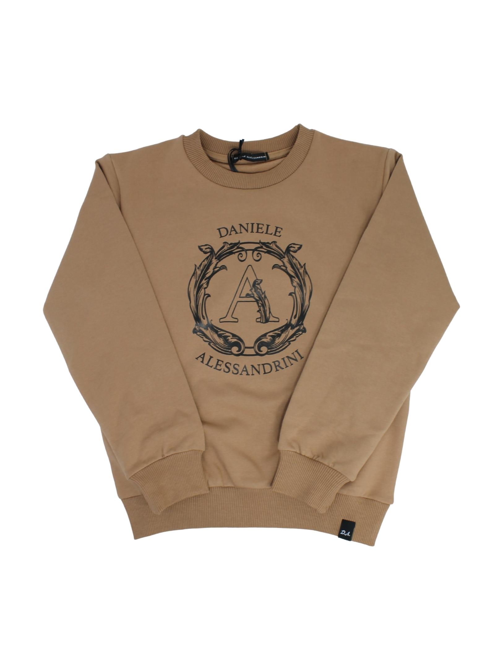 Boy Logo sweatshirt DANIELE ALESSANDRINI JUNIOR | Hoodie | 1231F1186CAMMELLO