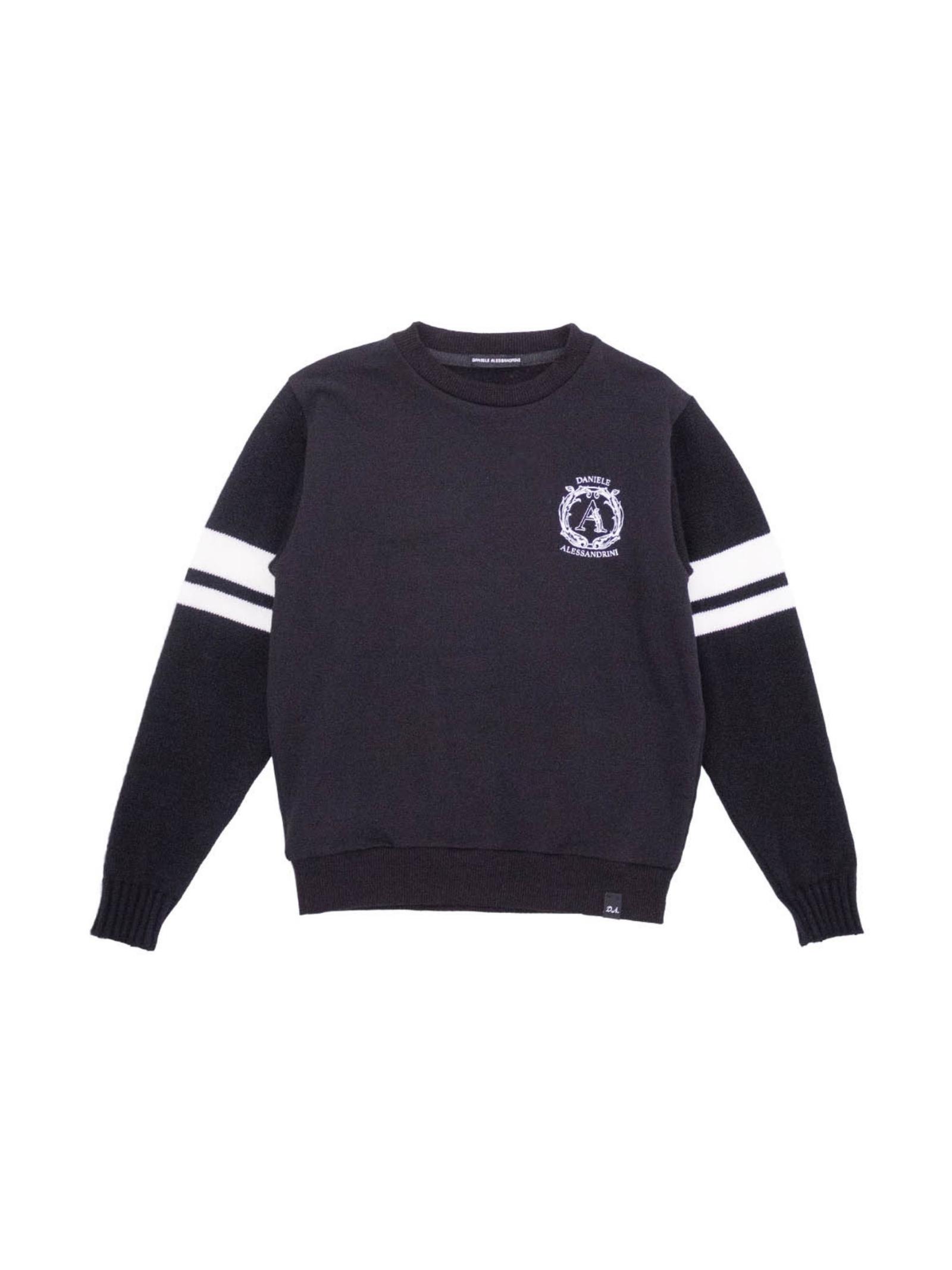 Black White Boy sweatshirt DANIELE ALESSANDRINI JUNIOR | Hoodie | 1231FW1068NERO