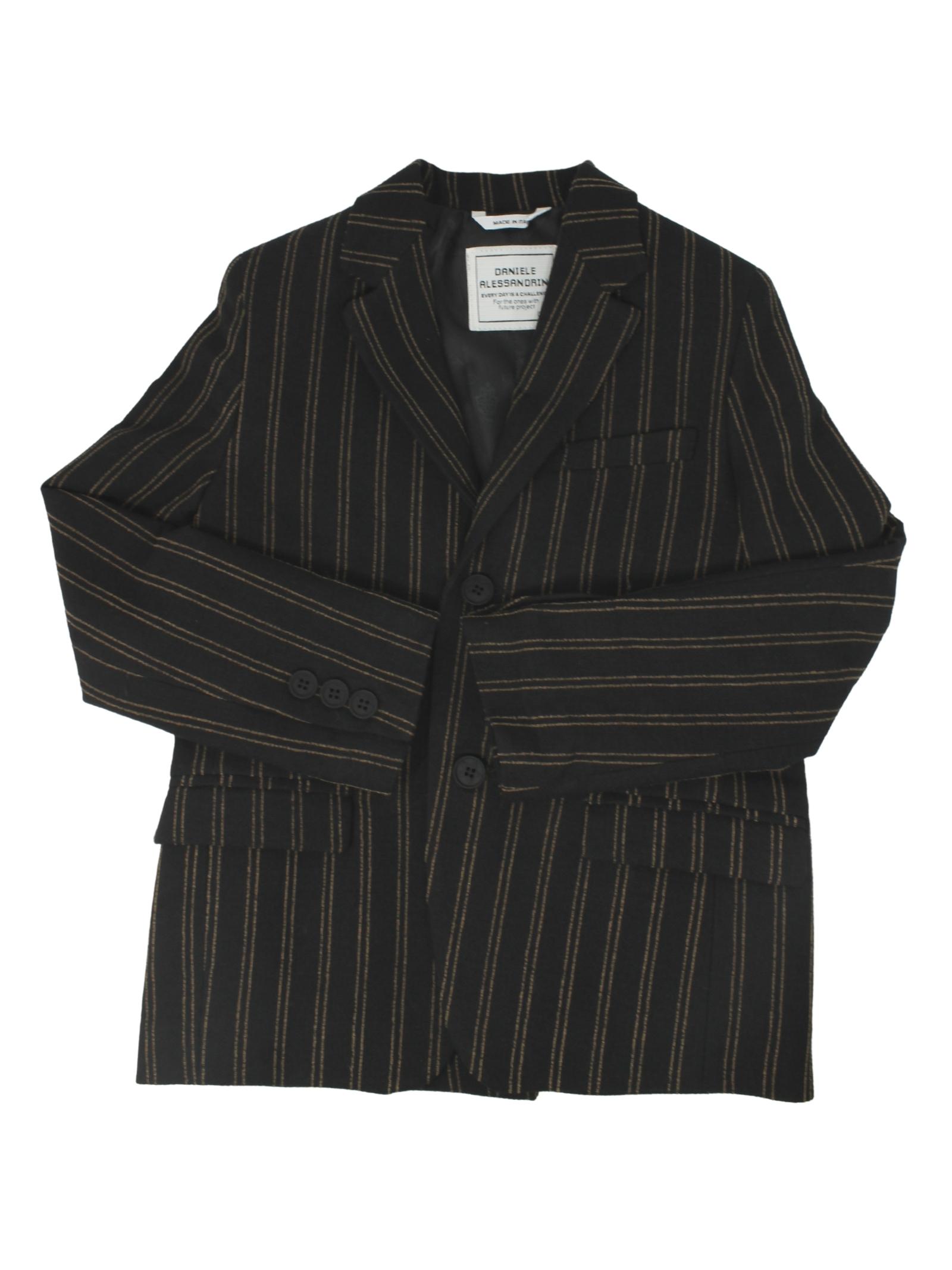 Elegant Black Child Jacket DANIELE ALESSANDRINI JUNIOR | Jackets | 1231J1159NERO