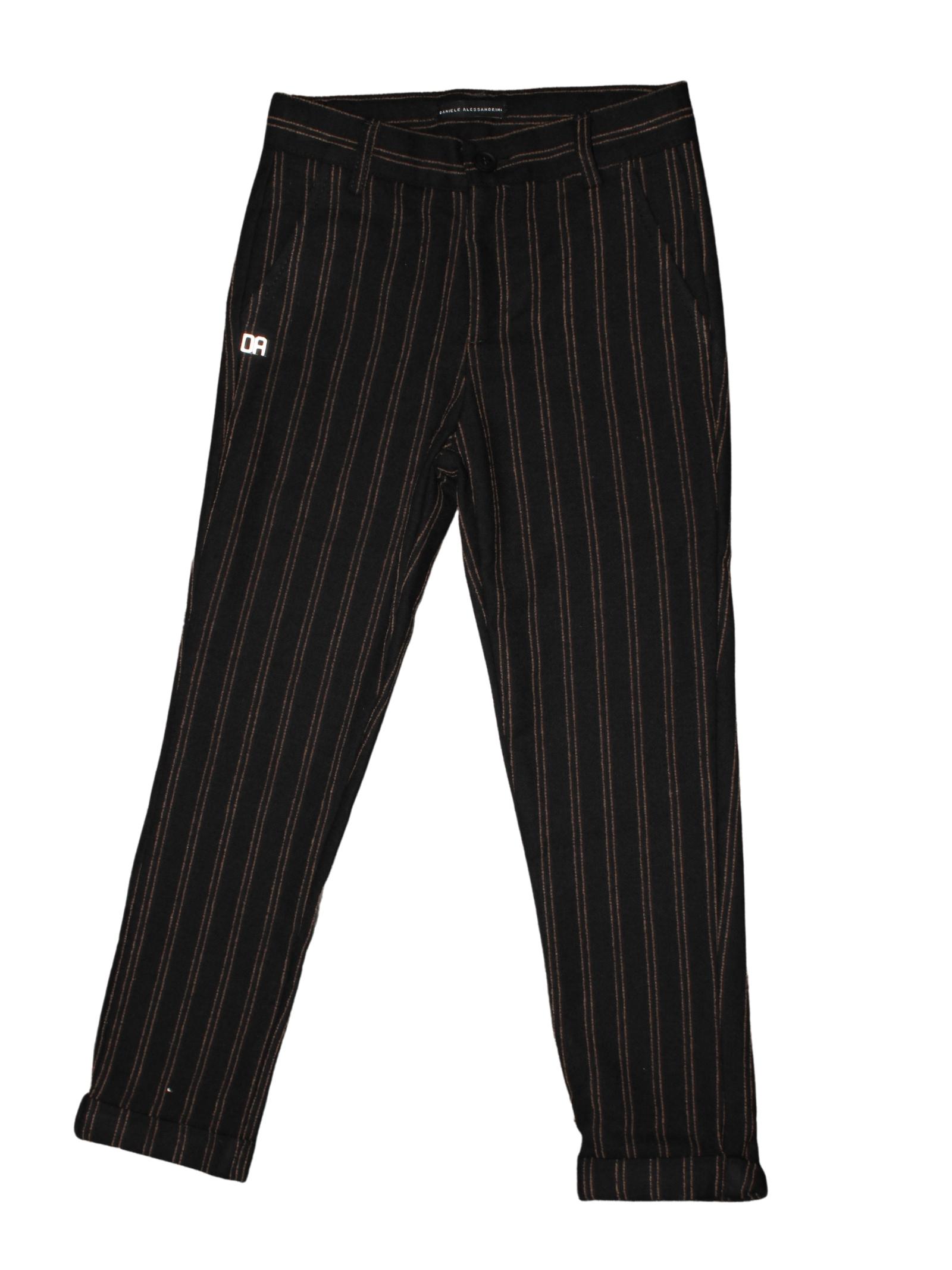Elegant Striped Baby Trousers DANIELE ALESSANDRINI JUNIOR | Trousers | 1231P1160NERO