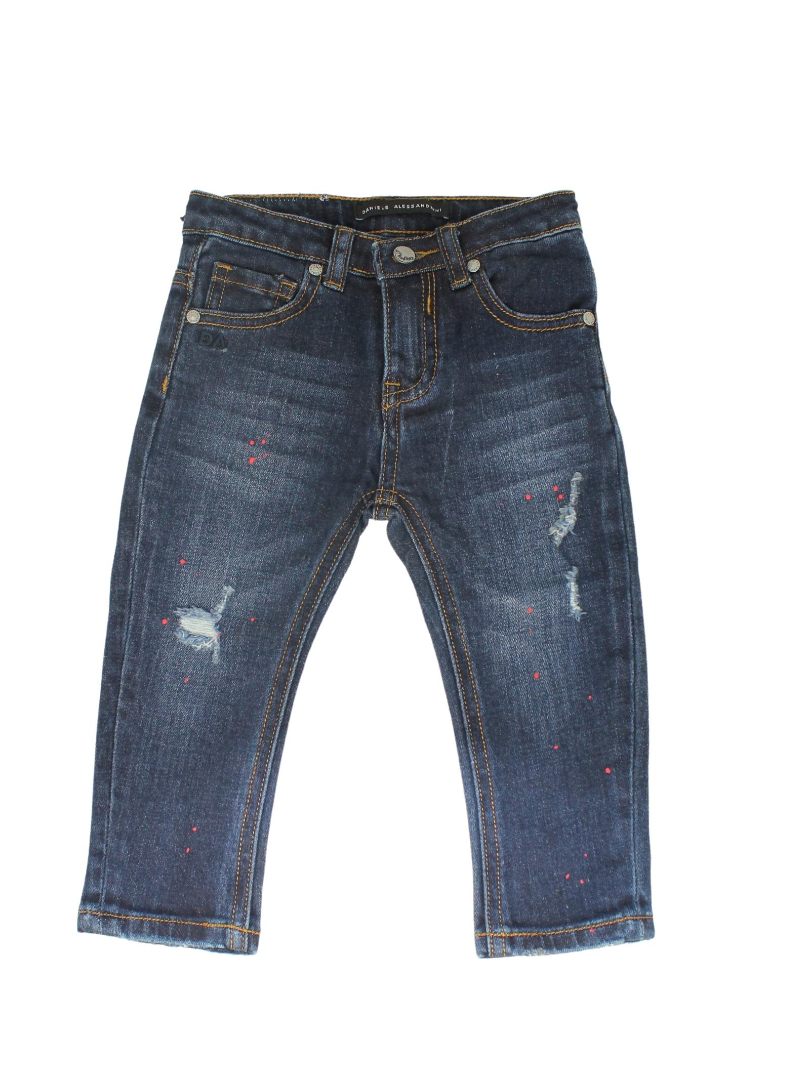 Blue-Red Jeans Boy DANIELE ALESSANDRINI JUNIOR | Trousers | 1291D0755BLU