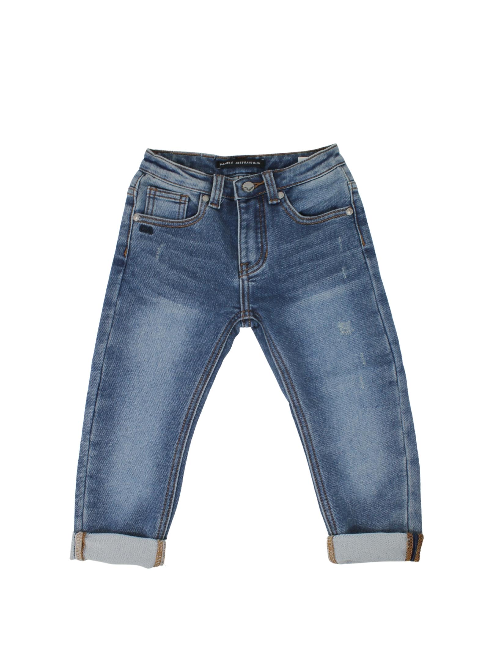 Basic Jeans for Boys DANIELE ALESSANDRINI JUNIOR | Trousers | 1291D0757BLU