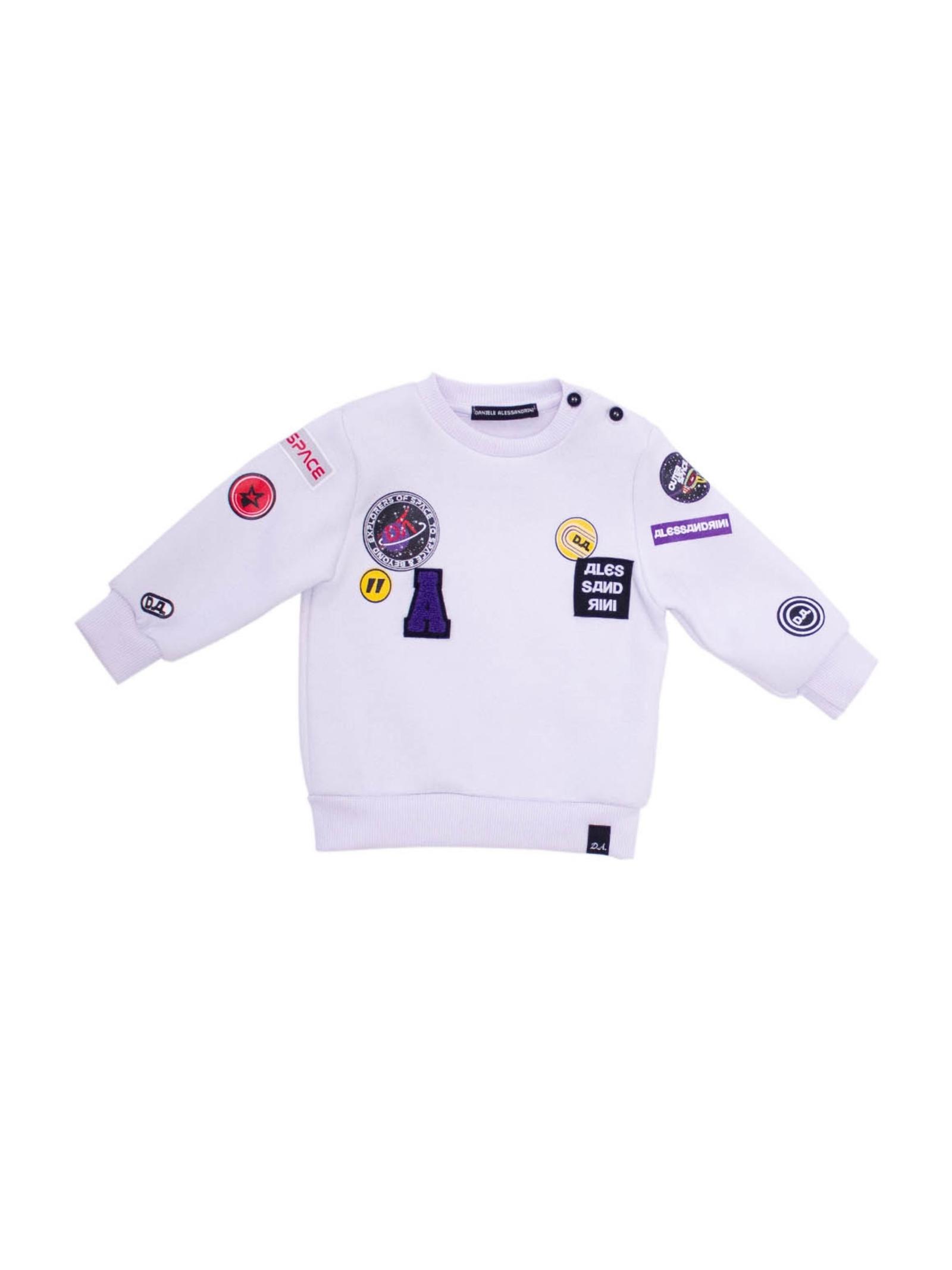 Fantasy Child sweatshirt DANIELE ALESSANDRINI JUNIOR | Hoodie | 1291F0699BIANCO