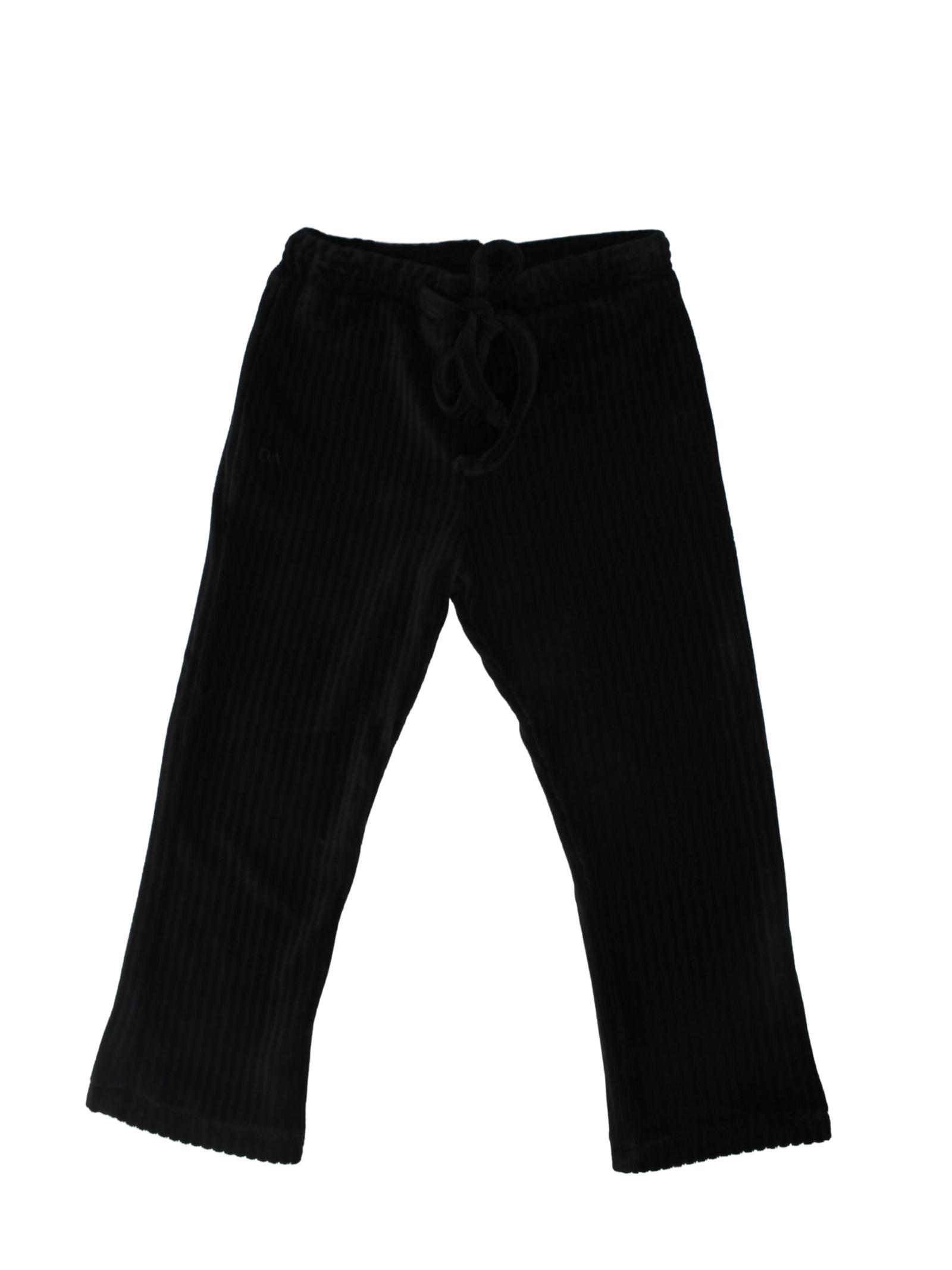Velvet Child Trousers DANIELE ALESSANDRINI JUNIOR | Trousers | 1291P0724NERO