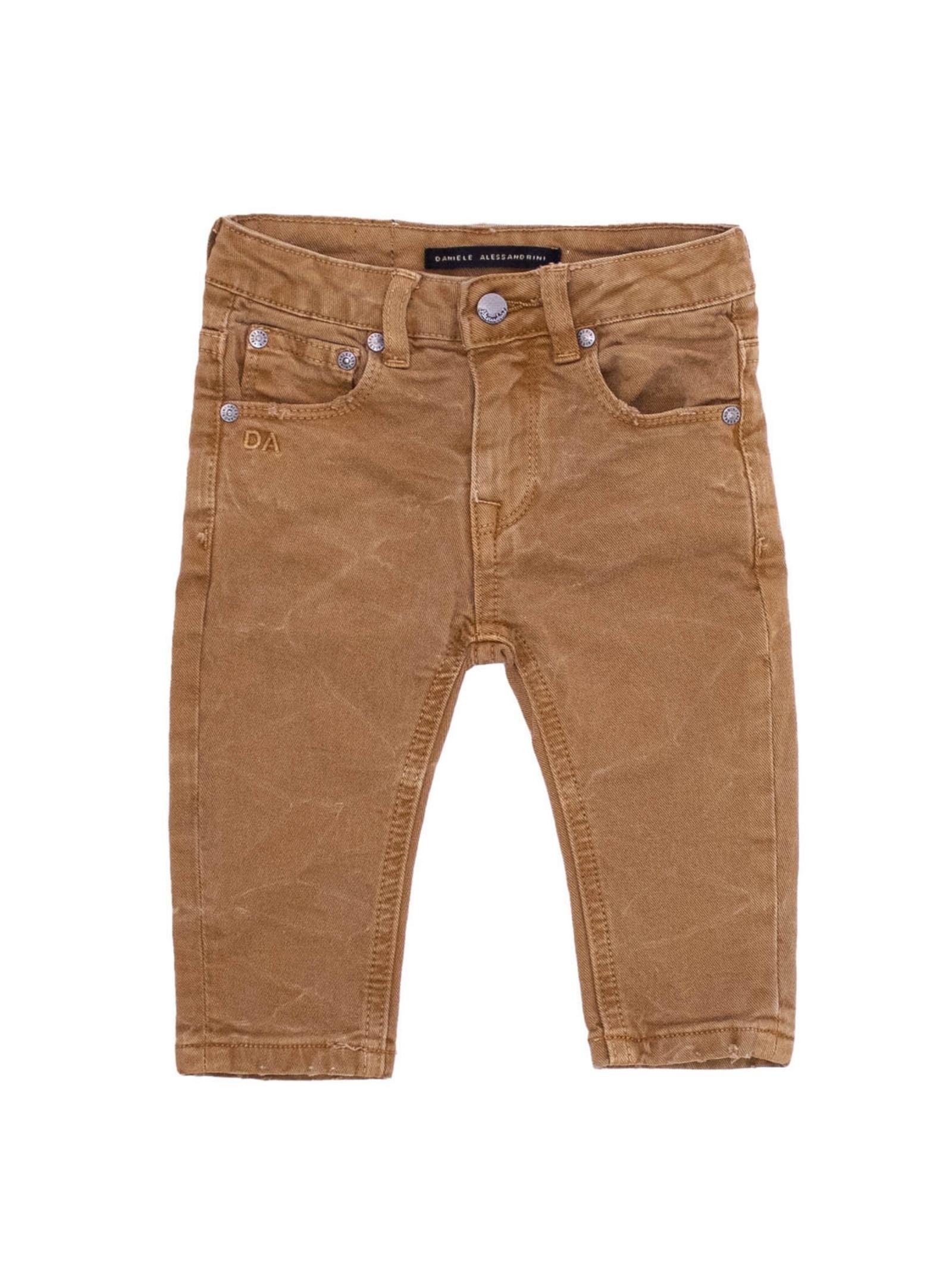 Basic Child Trousers DANIELE ALESSANDRINI JUNIOR | Trousers | 1291P0760CAMMELLO