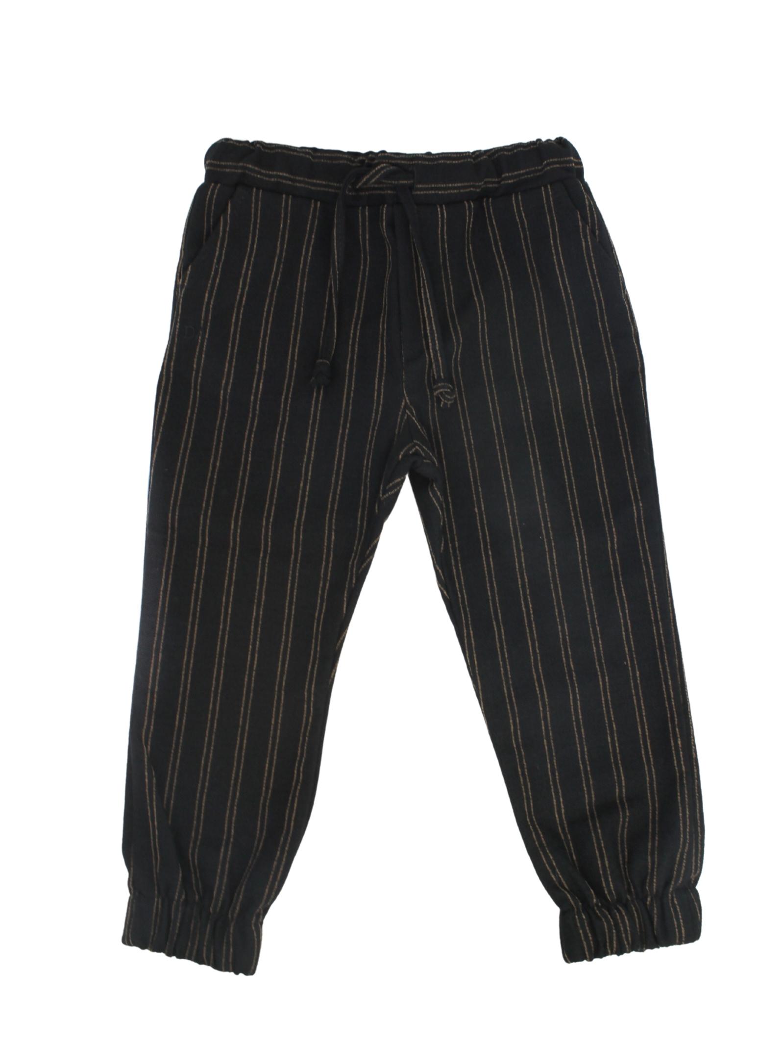 Baby Striped Trousers DANIELE ALESSANDRINI JUNIOR | Trousers | 1291P0769NERO