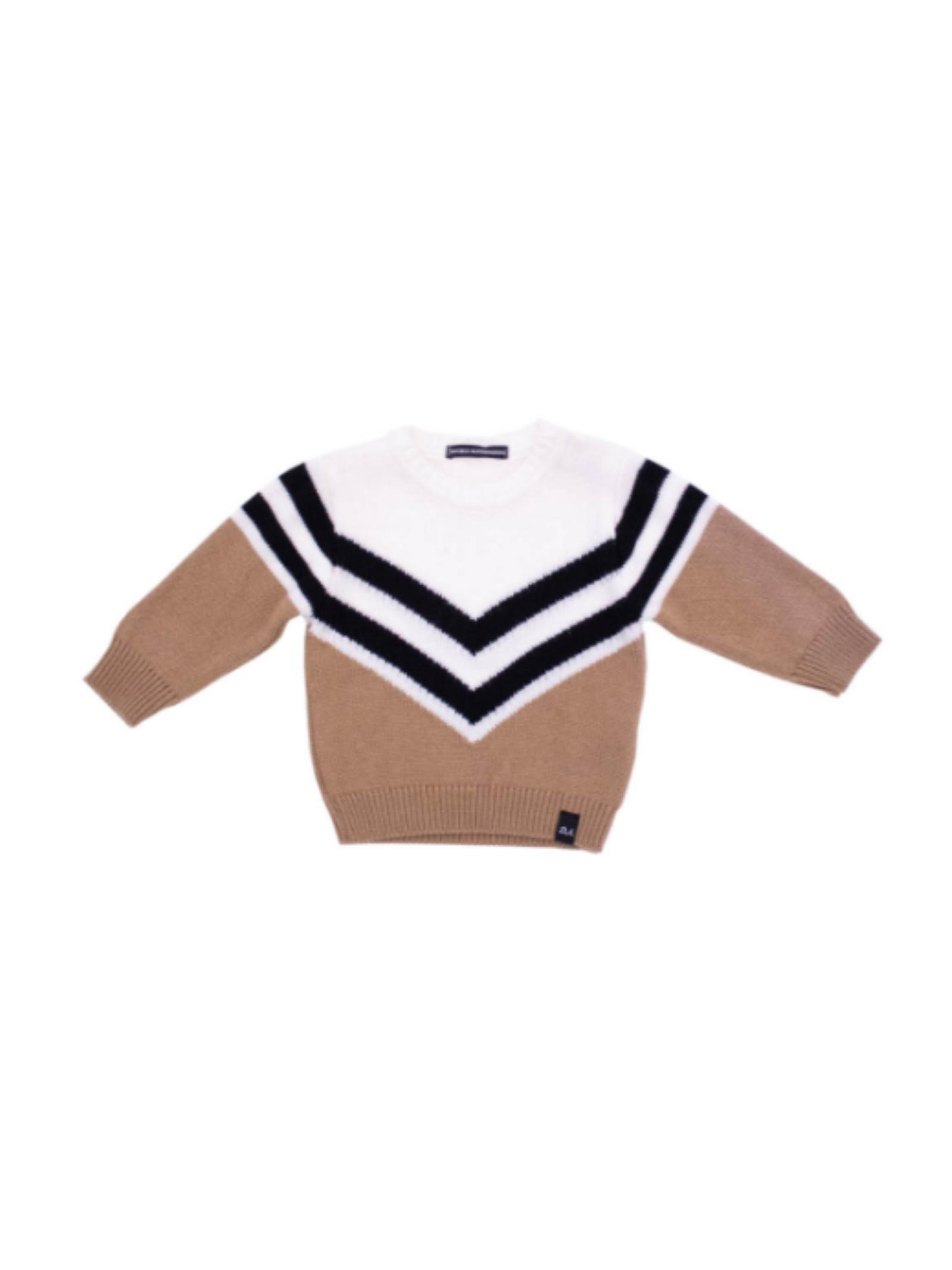 Basic Baby Sweater DANIELE ALESSANDRINI JUNIOR |  | 1291W0655CAMMELLO