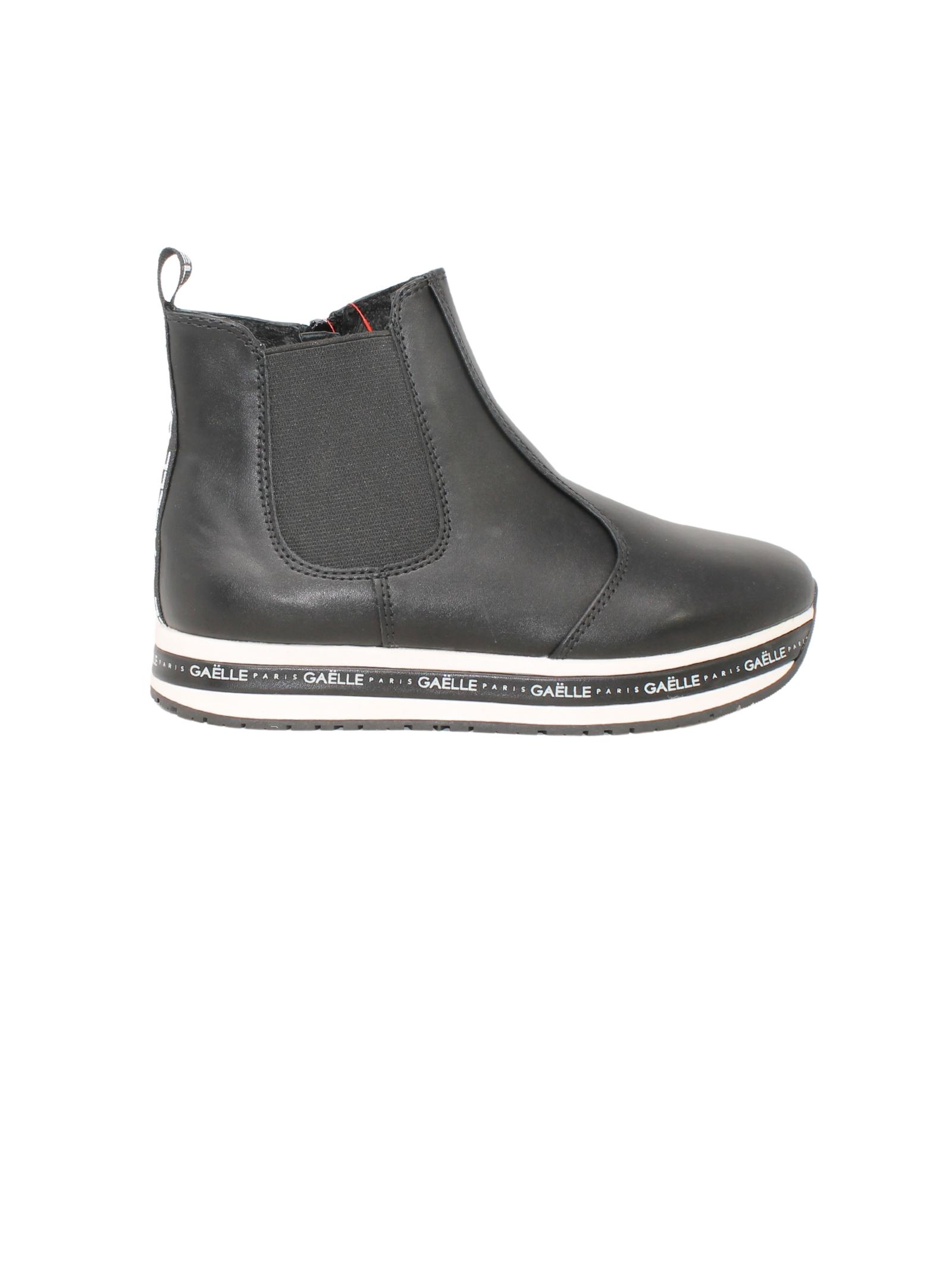 Sneakers Alta Total Black Bambina GAËLLE PARIS KIDS | Tronchetti | G1111NERO