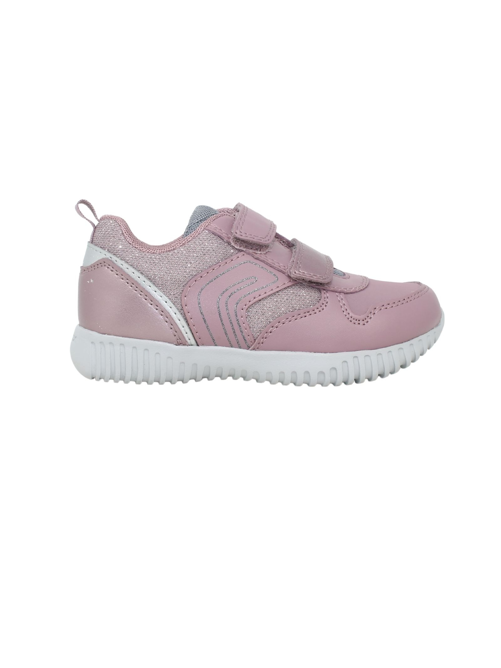 Sneakers Pink Silver Bambina GEOX KIDS | Sneakers | B161XA054ASC0514