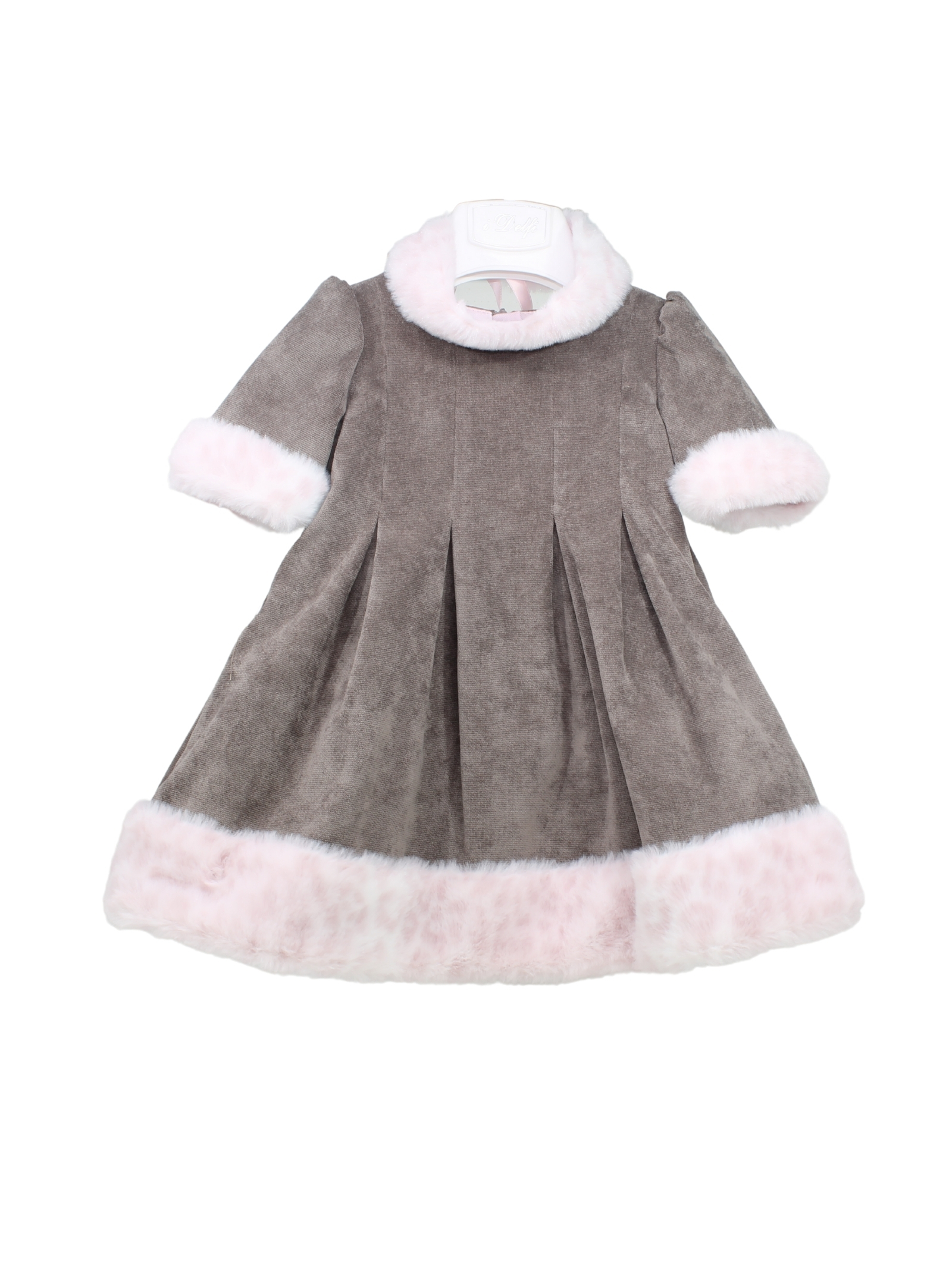 Bell Dress with Headband for Girls I DELFI | Clothes | 516HMARRONE