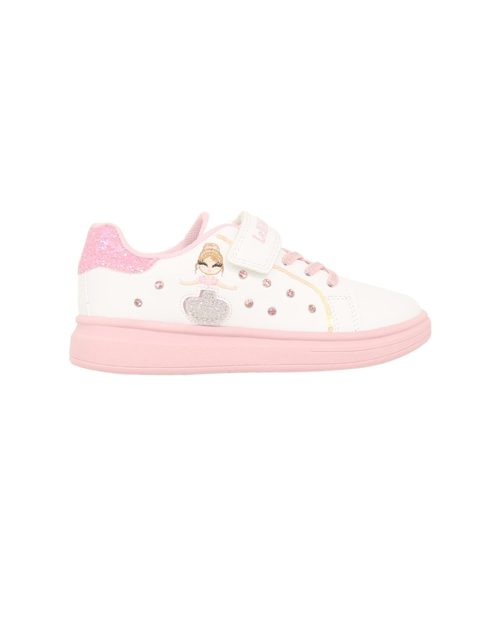 Sneakers Brillantini Bambina LELLI KELLY | Sneakers | LK4826BIANCO/ROSA