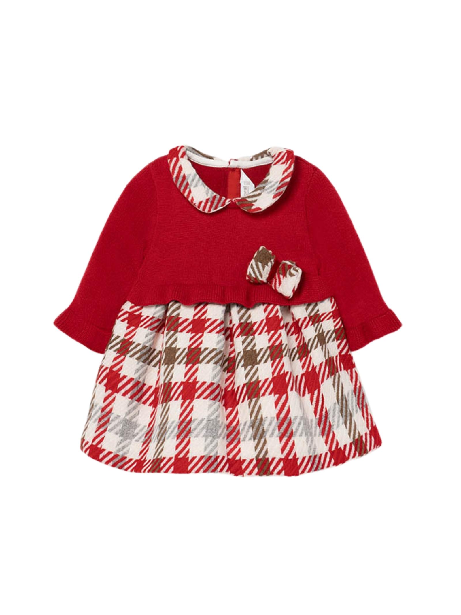 Vestito Red Tricot Bambina MAYORAL NEWBORN | Vestiti | 2816048