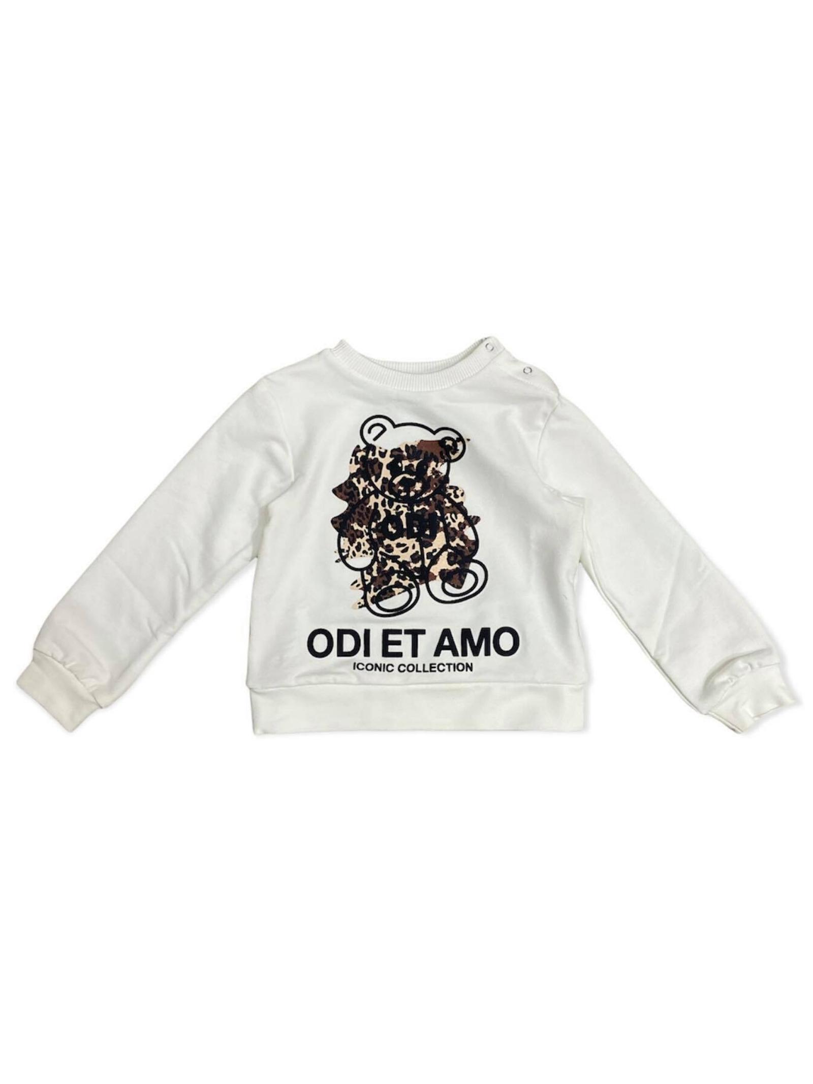 Felpa White Orsetto Bambina ODI ET AMO KIDS | Felpe | ODNST9880WHM