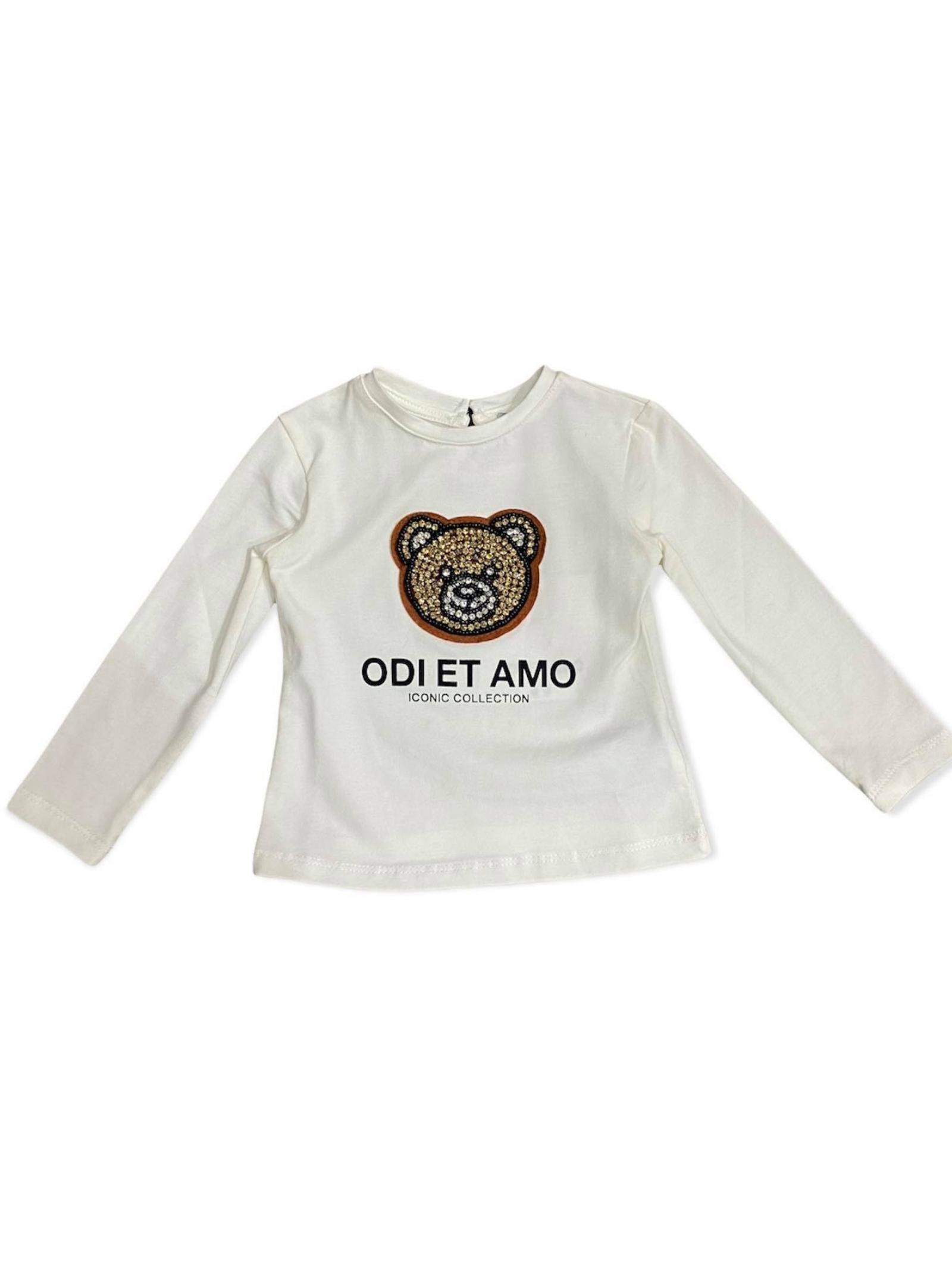 T-shirt Teddy Bambina ODI ET AMO KIDS | T-shirt | ODNTS9884WHM