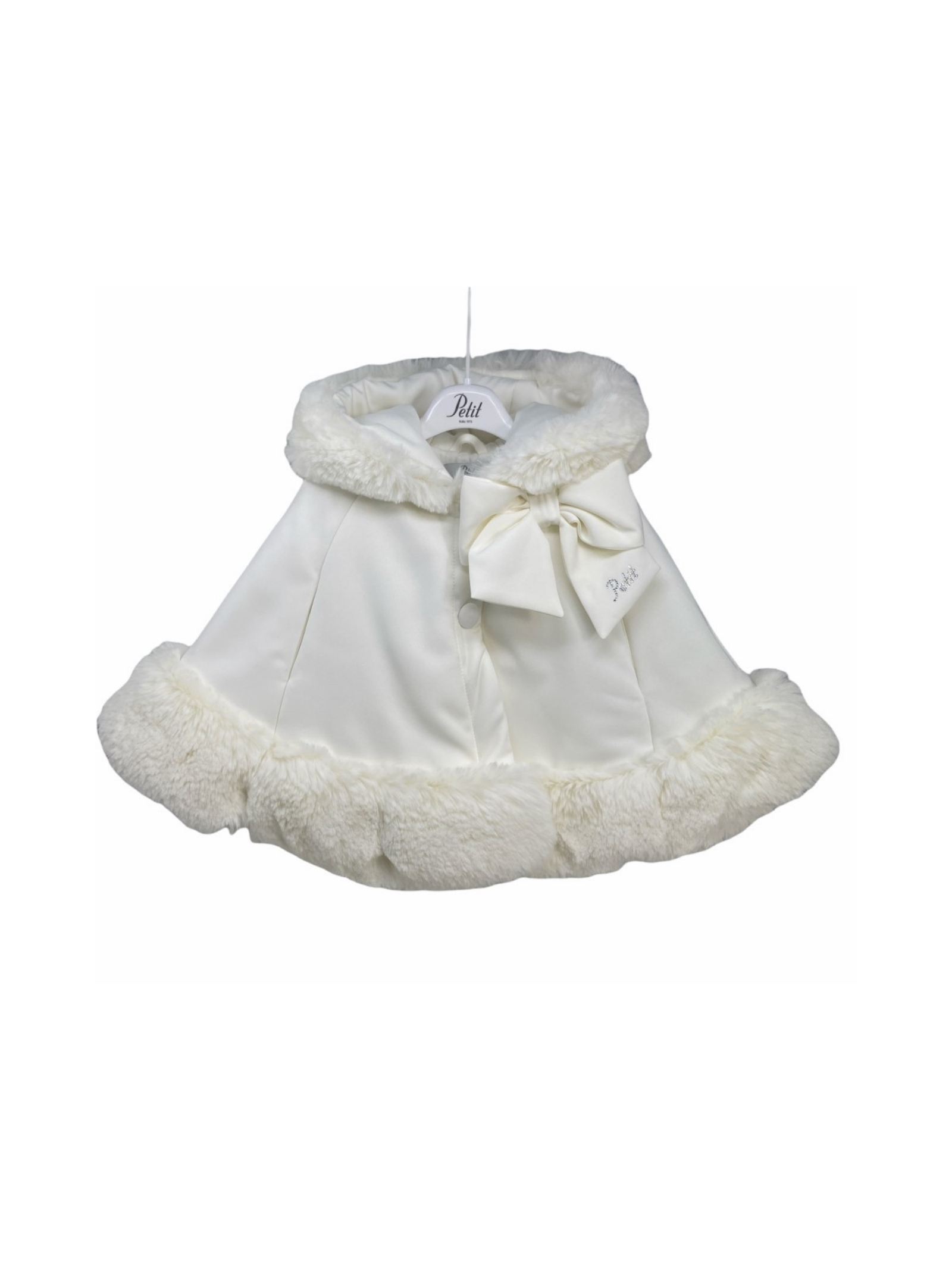 Ecofur Cape with Bow for Girls PETIT |  | 1015070T523720
