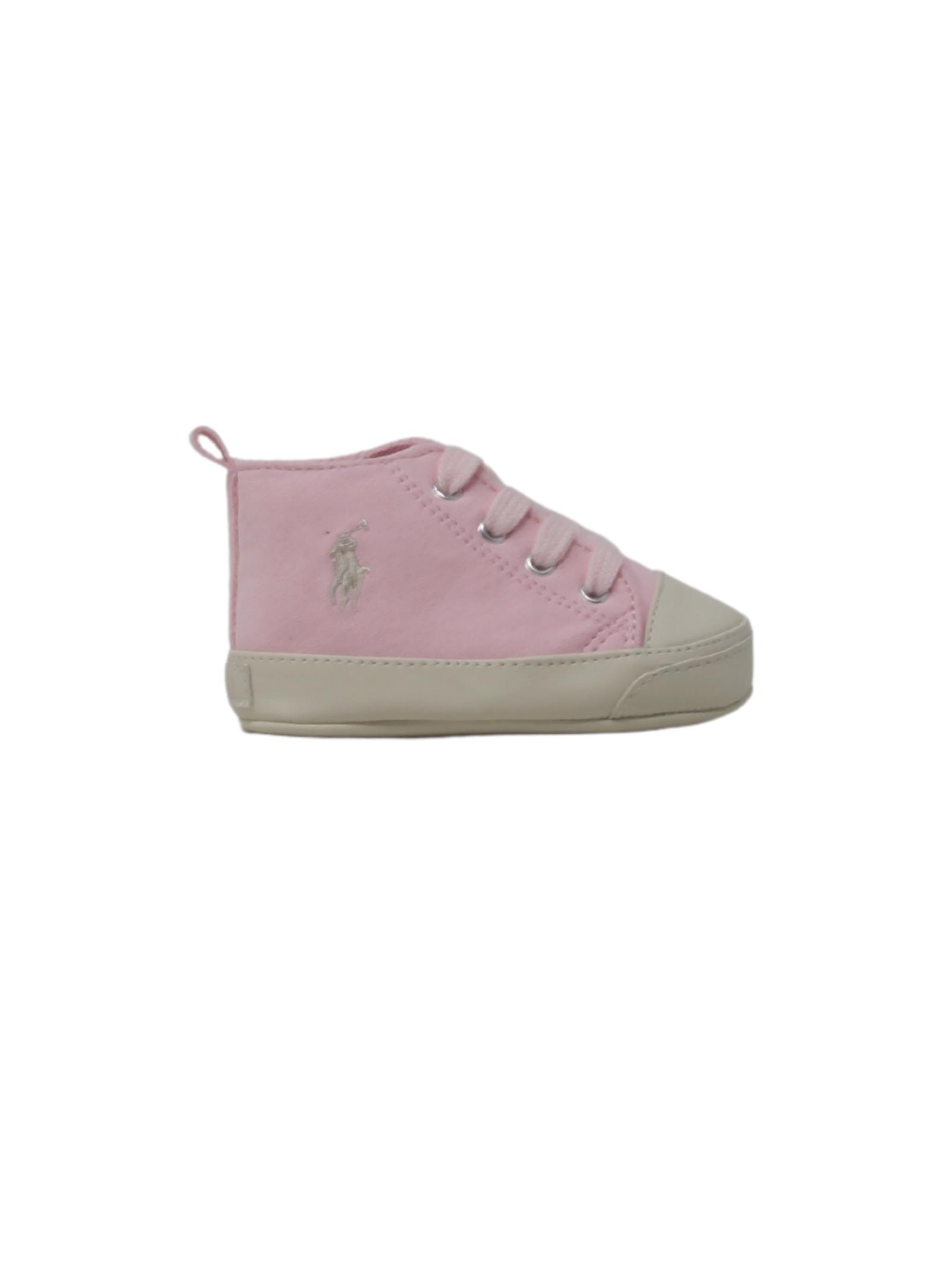 Baby Girl Suede Sneakers POLO RALPH LAUREN JUNIOR | Sneakers | 13RL100614ROSA