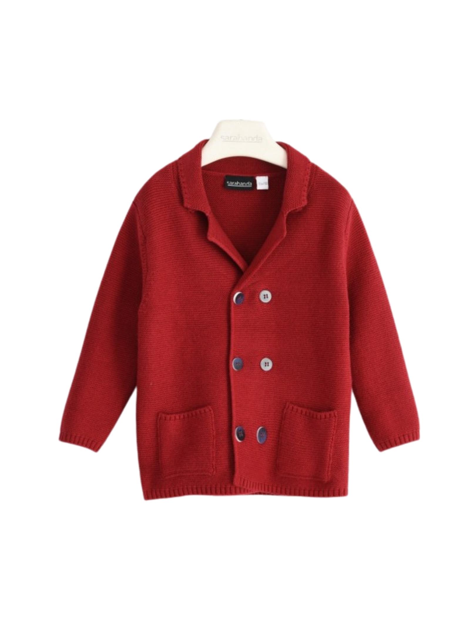 Red Boy cardigan SARABANDA | Cardigan | 01103002536