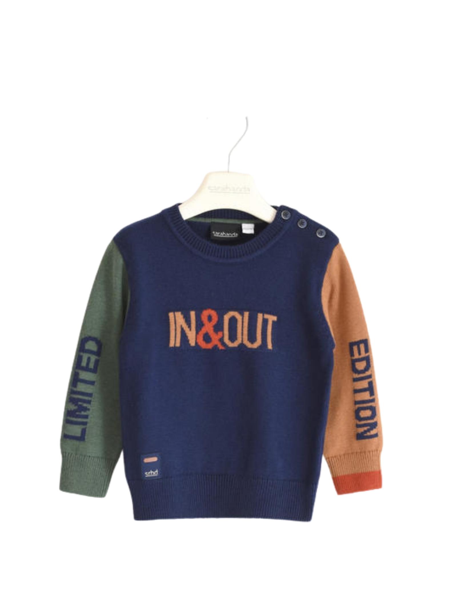Tricolor Baby Sweater SARABANDA | Sweaters | 03106003854