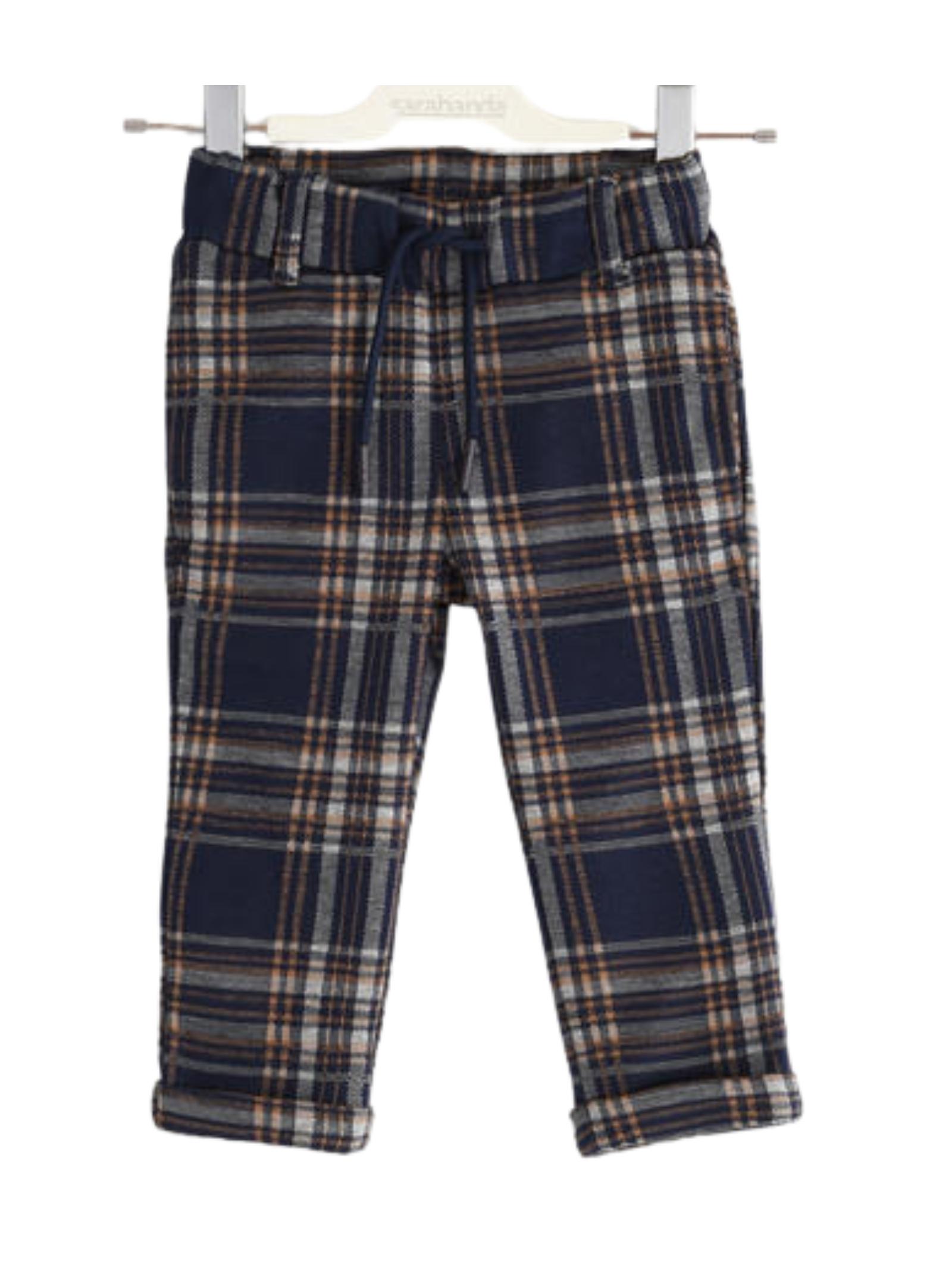 Children's Checkered Cotton Trousers SARABANDA | Trousers | 03152003854