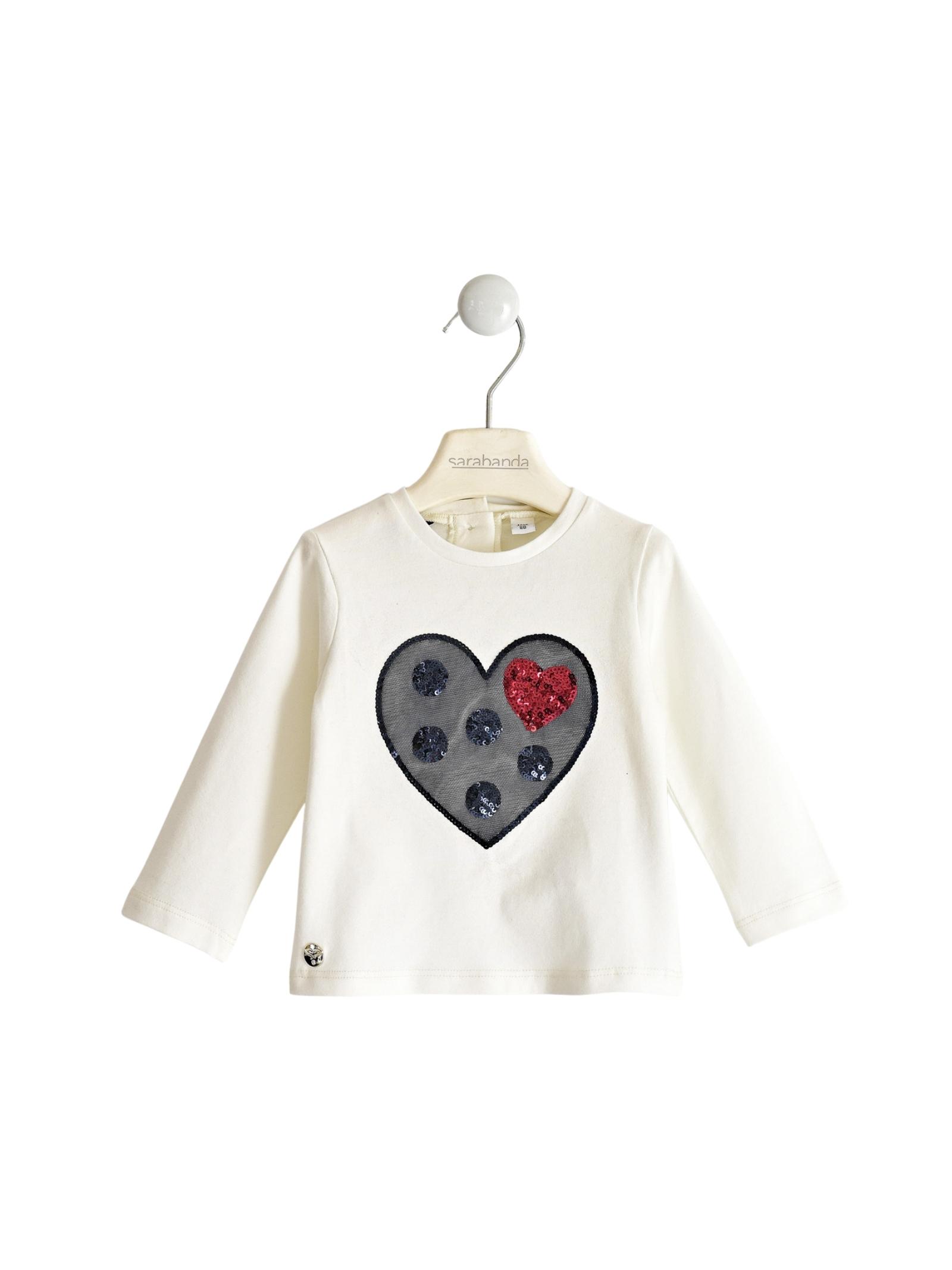 Maglia Heart Bambina SARABANDA | Maglie | 03203000112