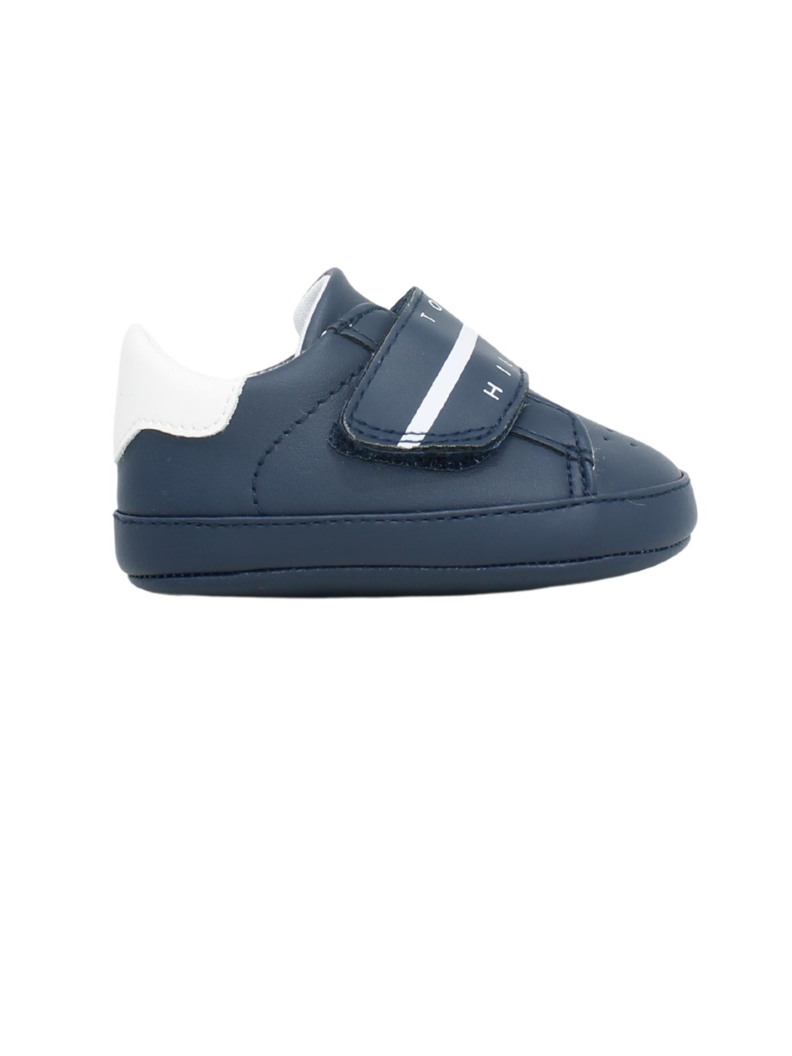 Newborn Imitation Leather Shoes TOMMY HILFIGER KIDS | Shoes | T0B4320360272800BLU